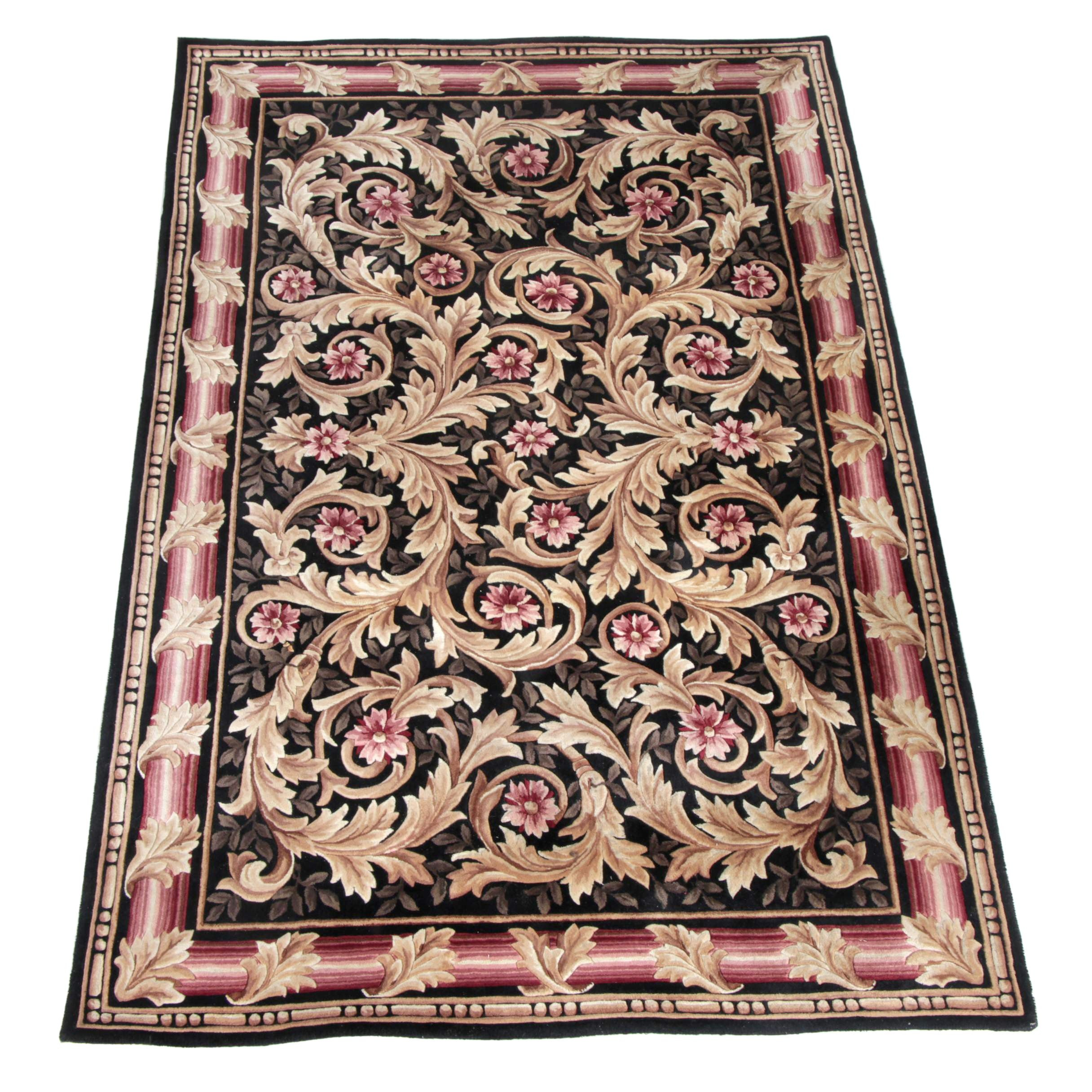 """Hand-Tufted Oriental Weavers """"Regency"""" Wool and Silk Area Rug"""