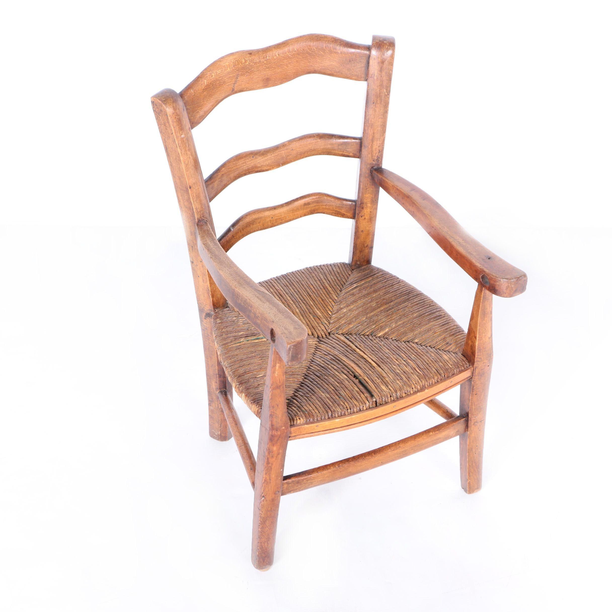 Rush Seat Children's Armchair