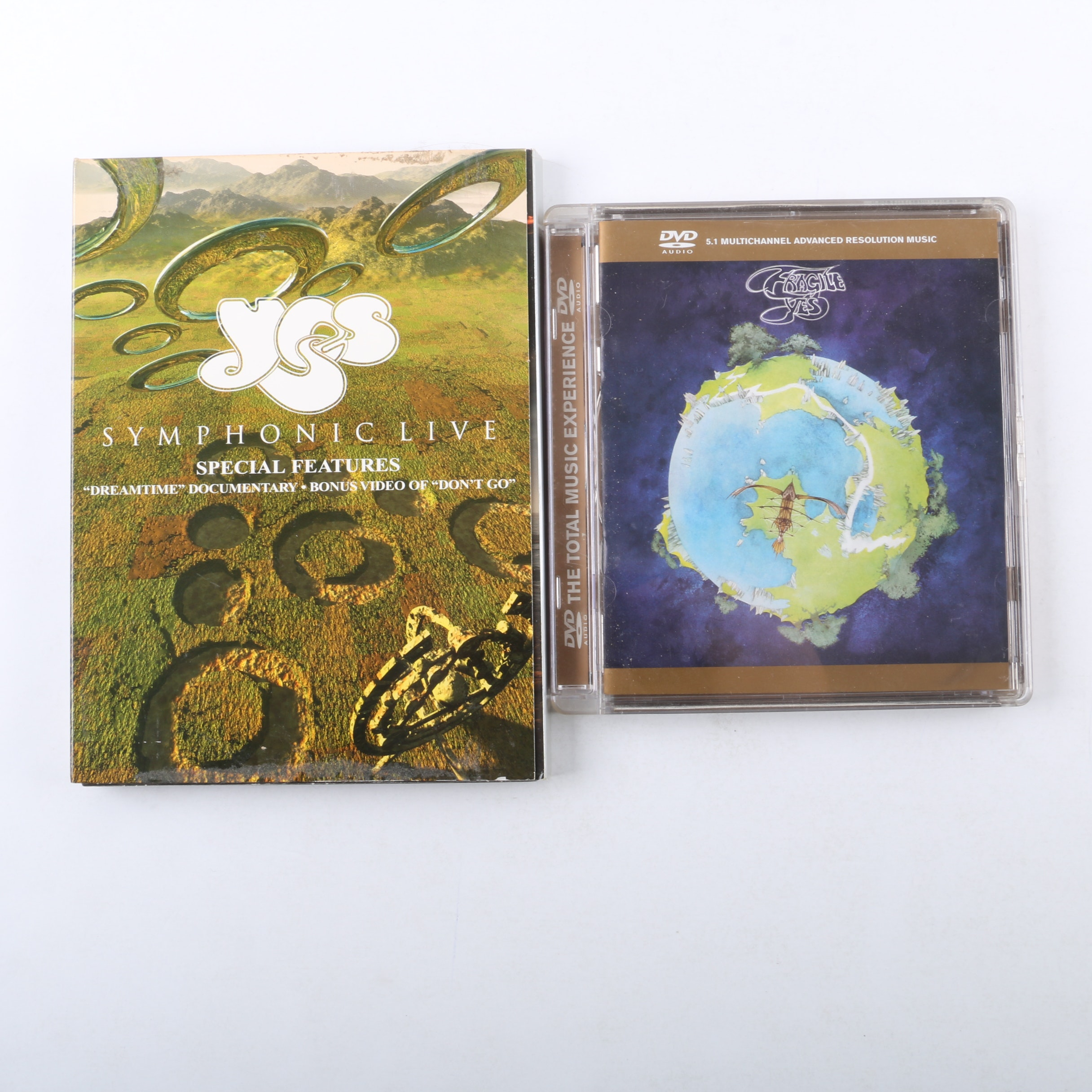 """Yes """"Fragile"""" DVD-Audio and """"Symphonic Live"""" DVD"""