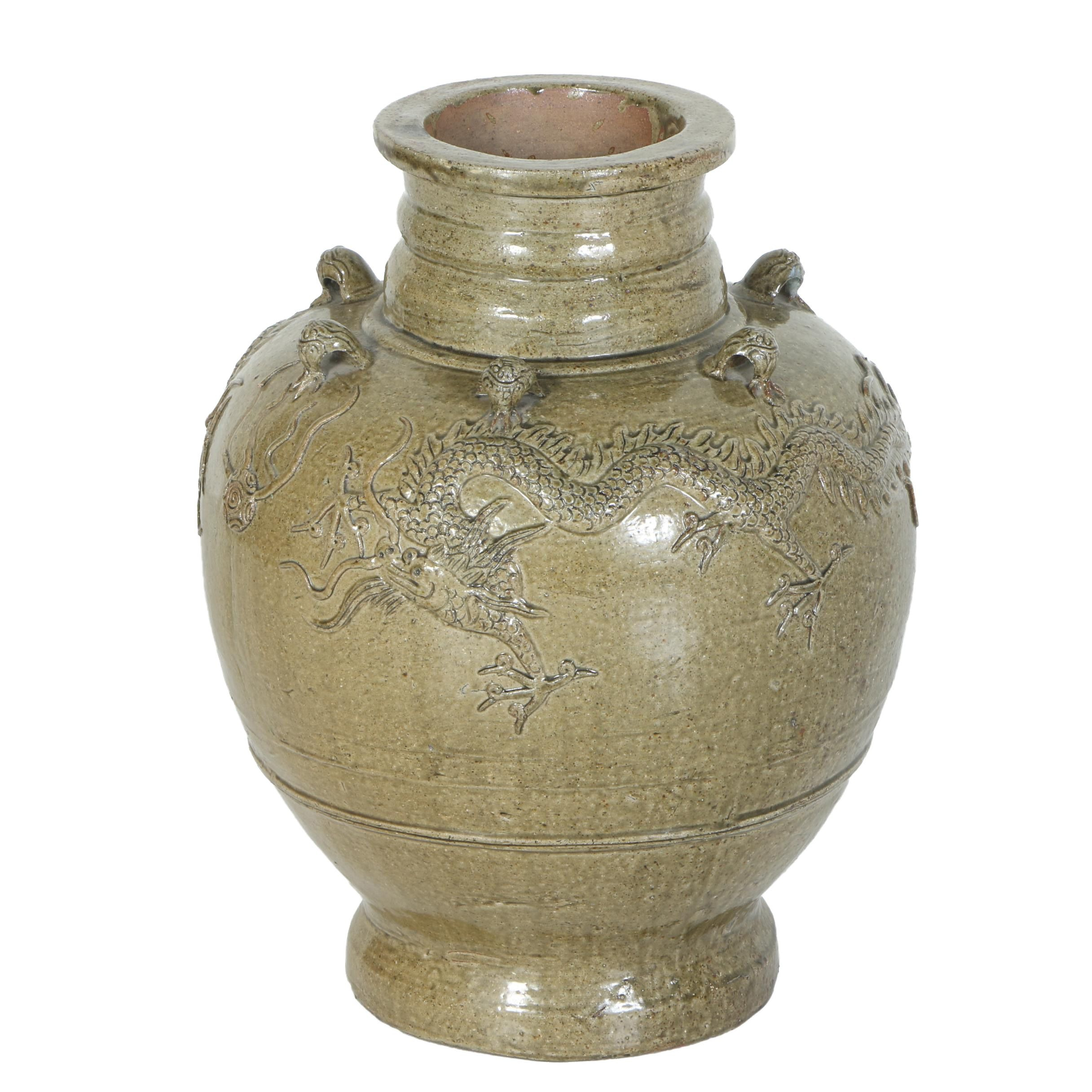 Chinese Earthenware Dragon Vase