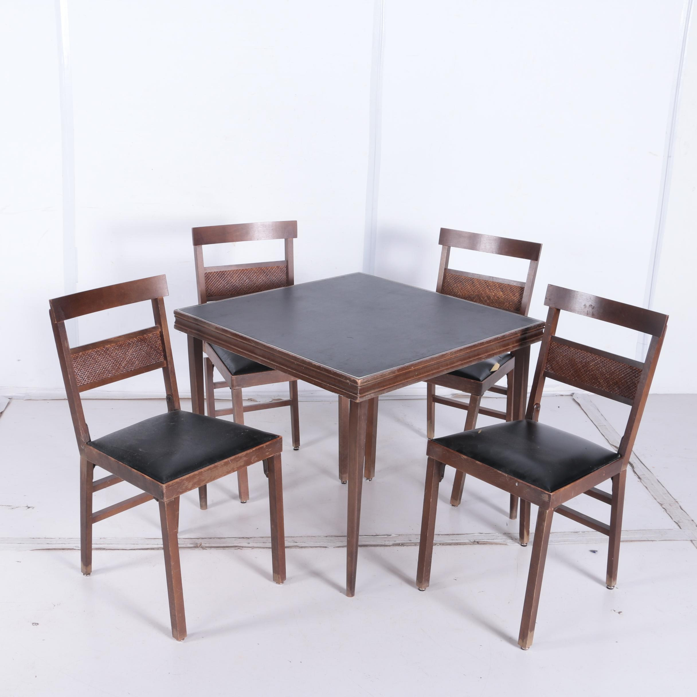 Mid-Century Folding Table and Chairs by Lorraine Industries