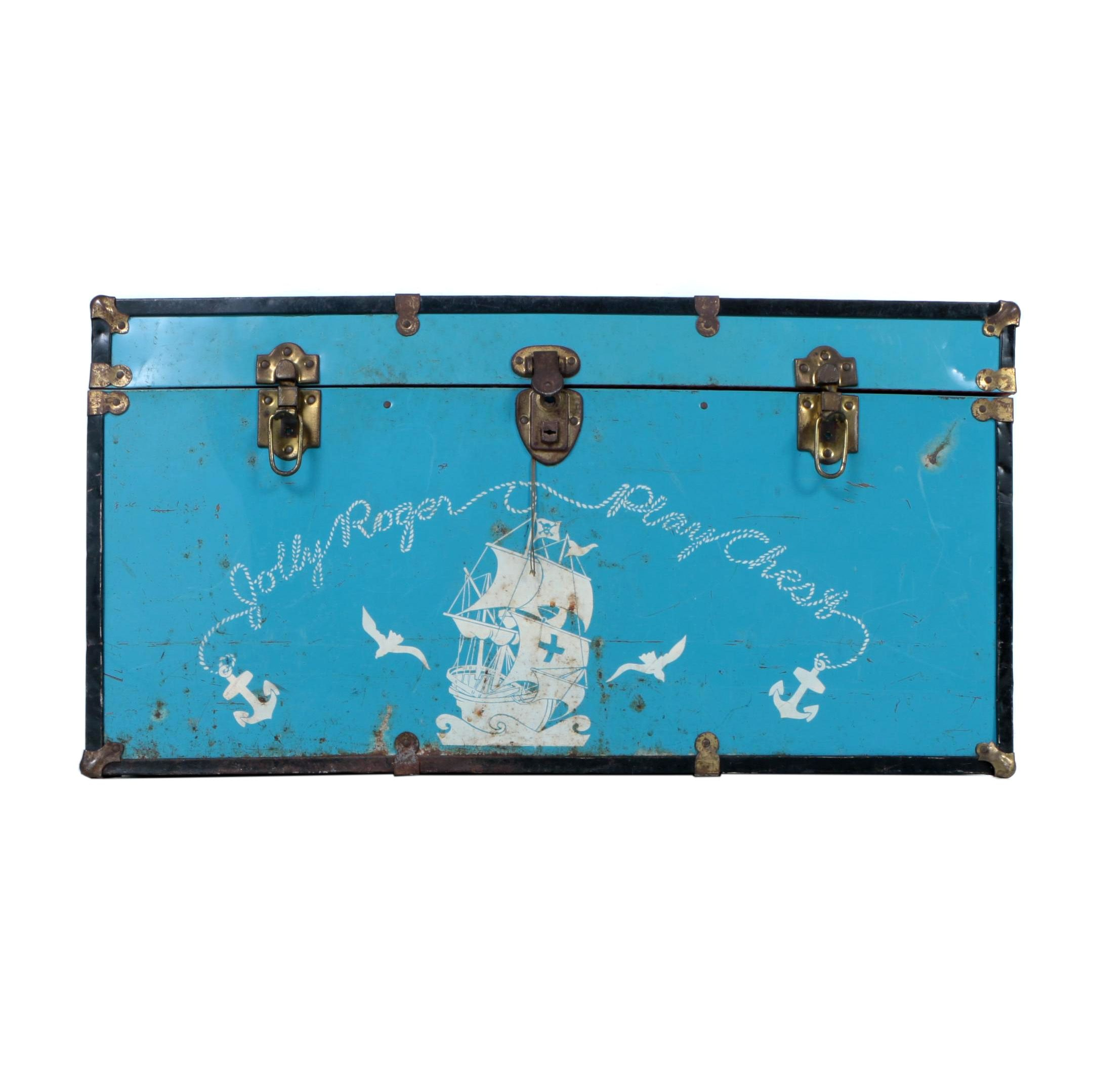 "Vintage ""Jolly Roger Play Chest"" Trunk"
