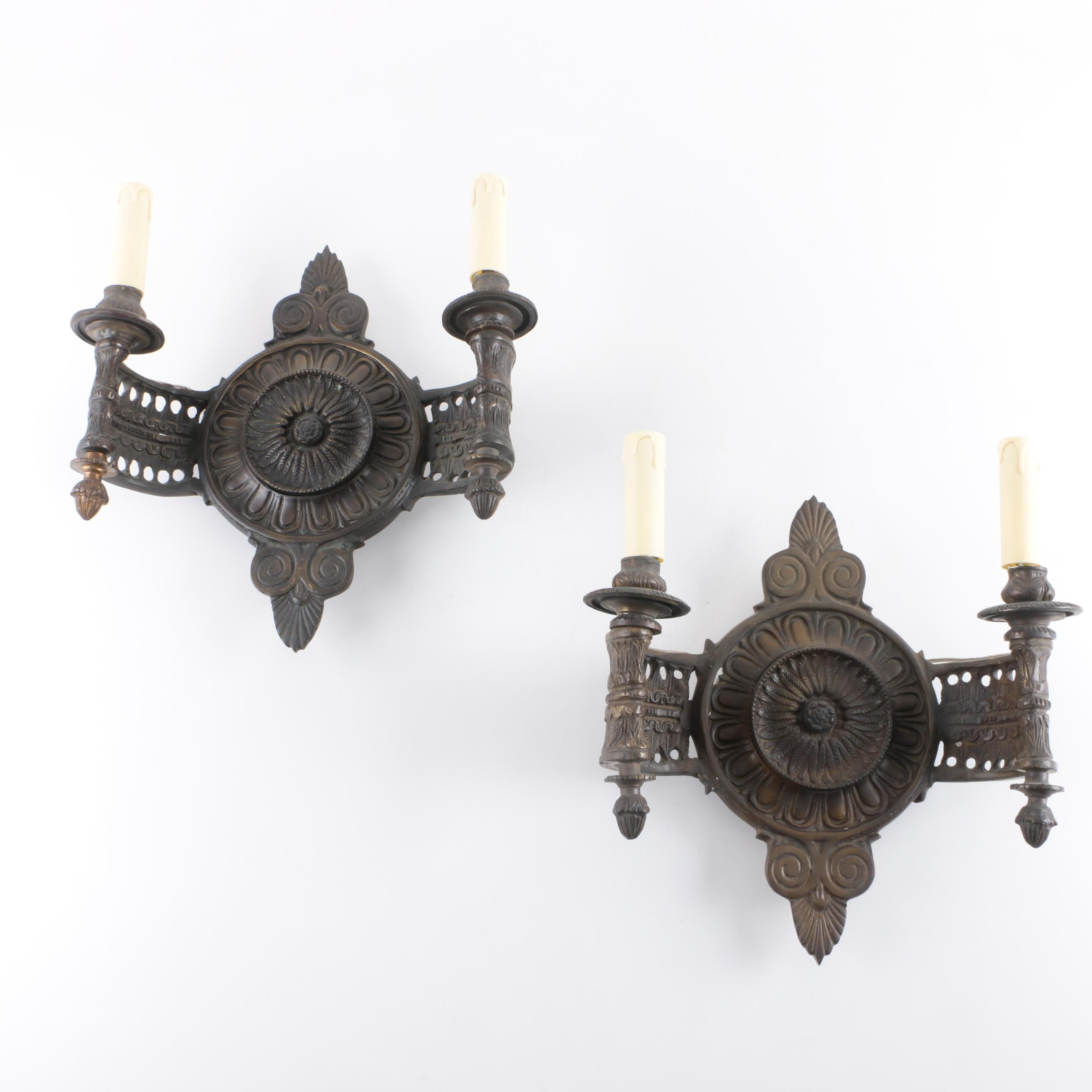 Pair of Art Deco Style Wall Sconces