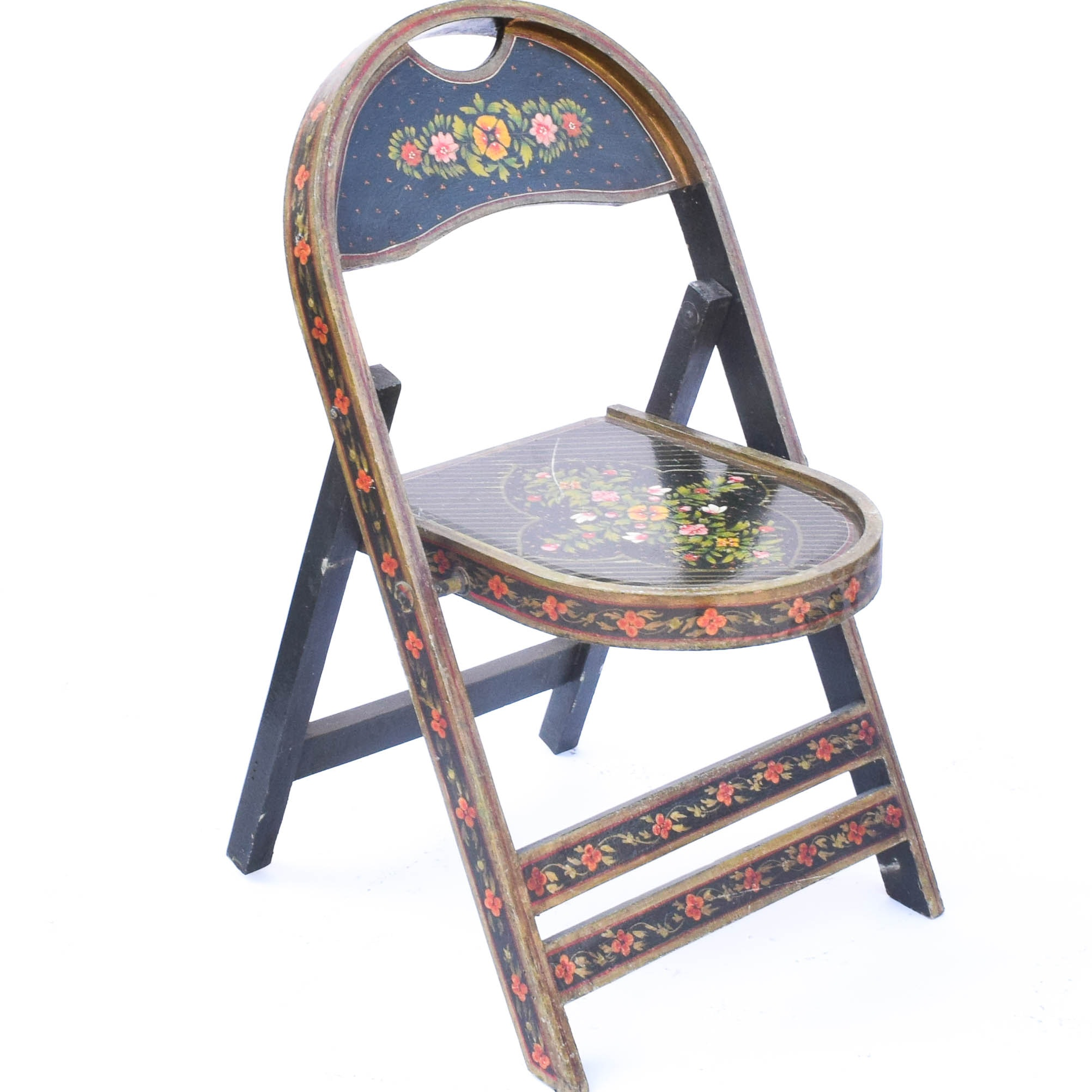 German Folk Art Folding Chair