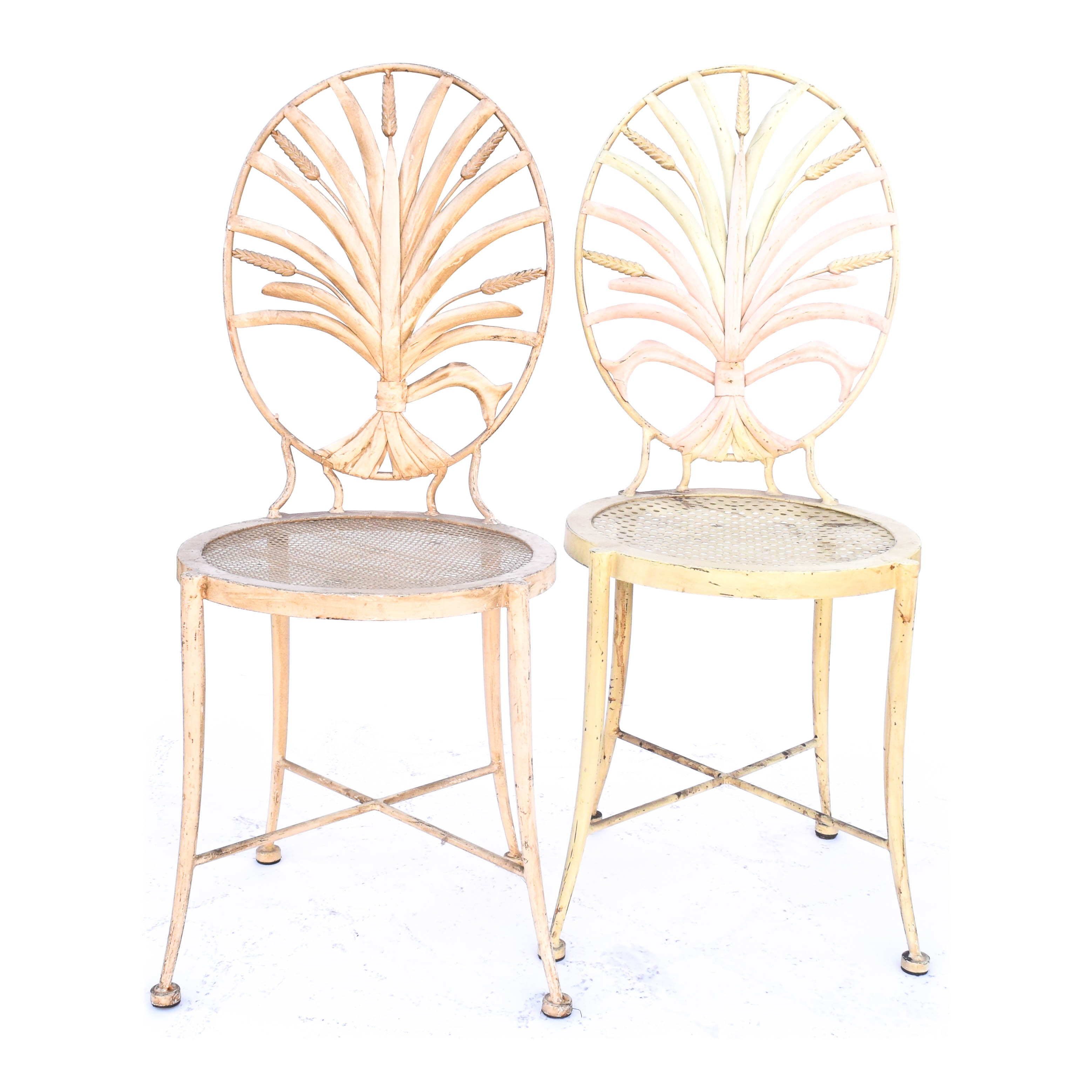 Pair of S. Salvadori Wheat Sheaf Side Chairs