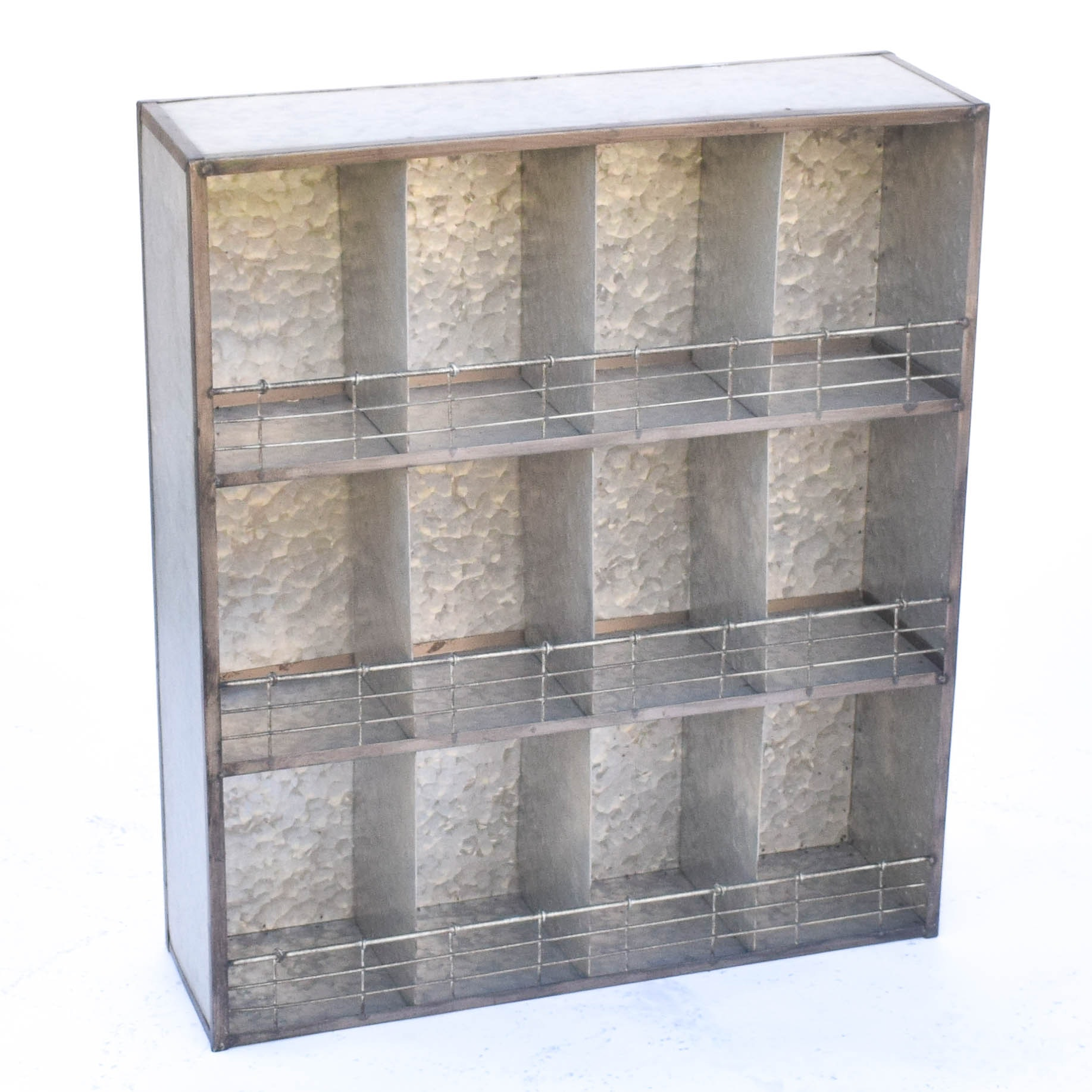 Contemporary Industrial Metal Shelving Unit