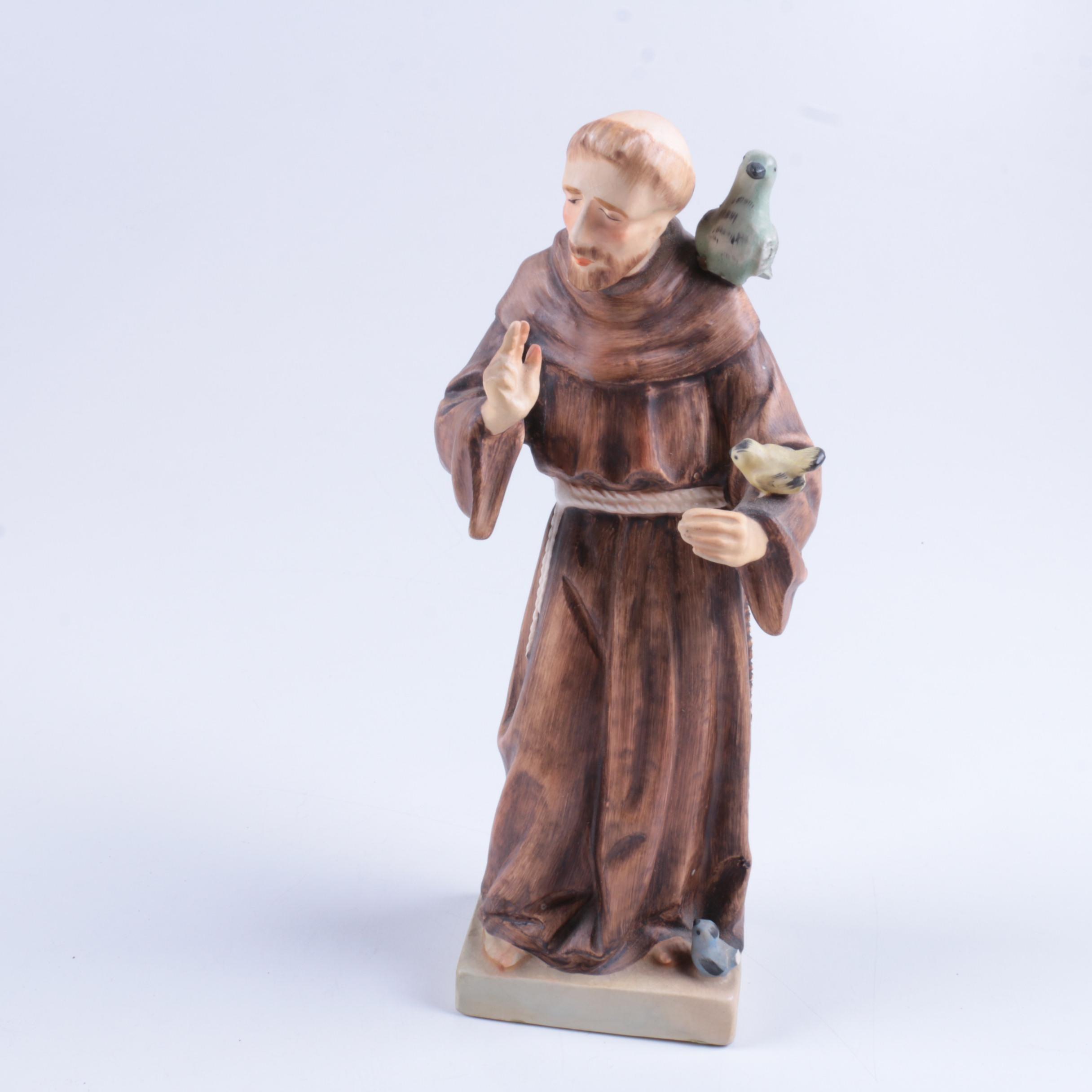 St. Francis of Assisi Ceramic Figurine