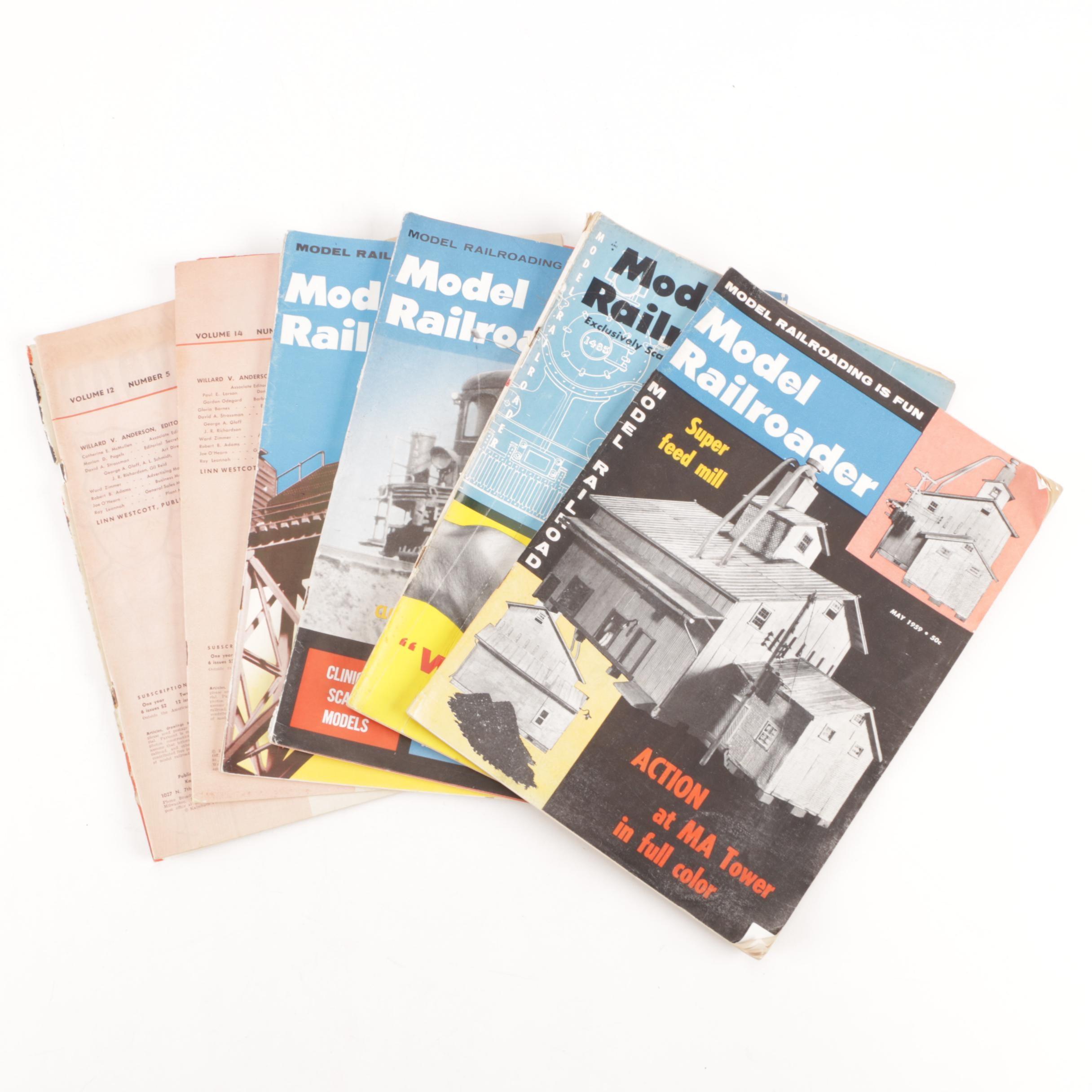 """1950s & 1960s """"Model Railroader"""" Magazines"""
