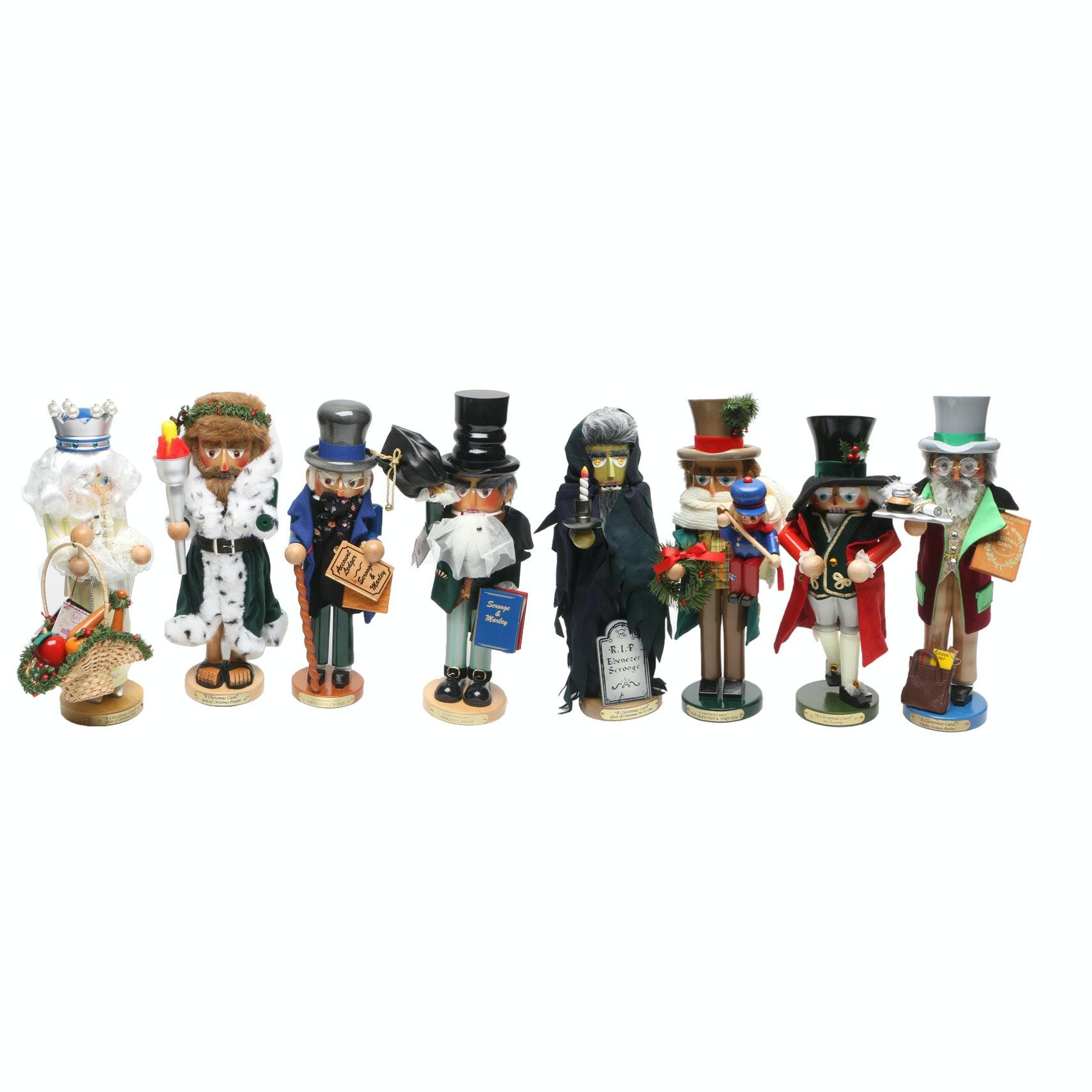 "Steinbach Limited Edition Wood ""Christmas Carol"" Nutcrackers"