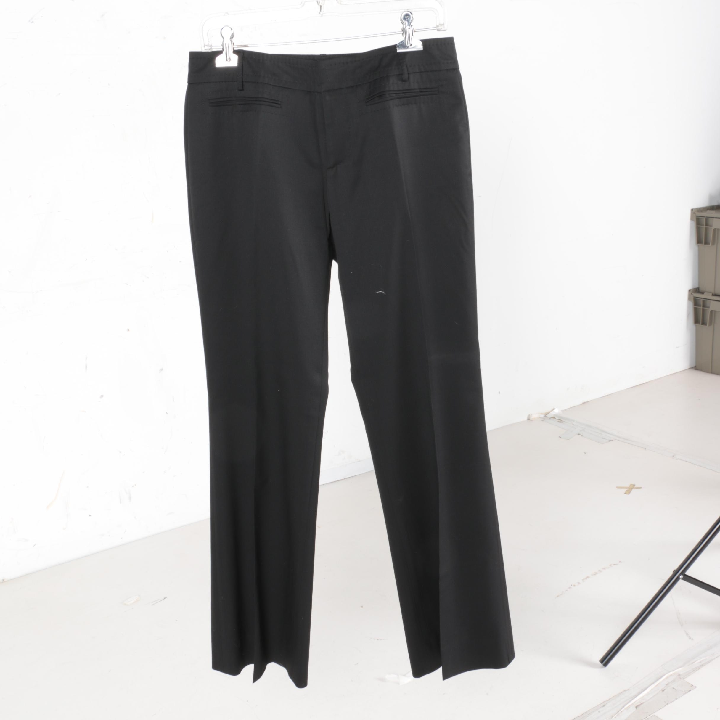 Gucci Black Wool Pants