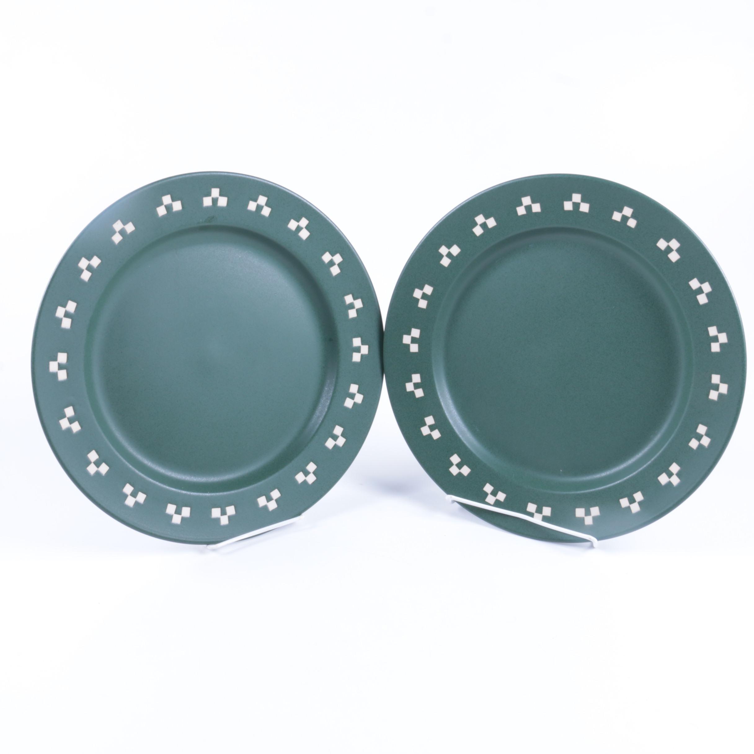 """Green Checks"" Plates"
