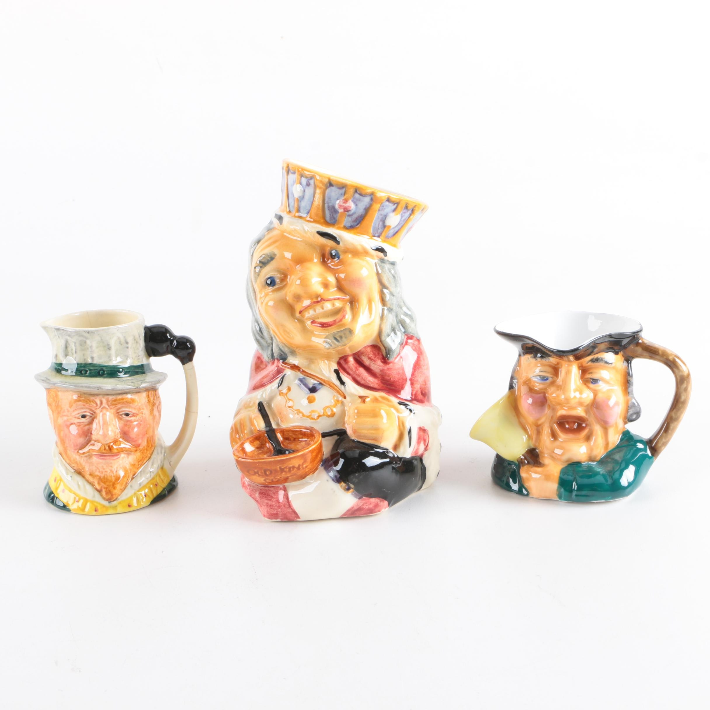 Ceramic Character Jugs and Mug