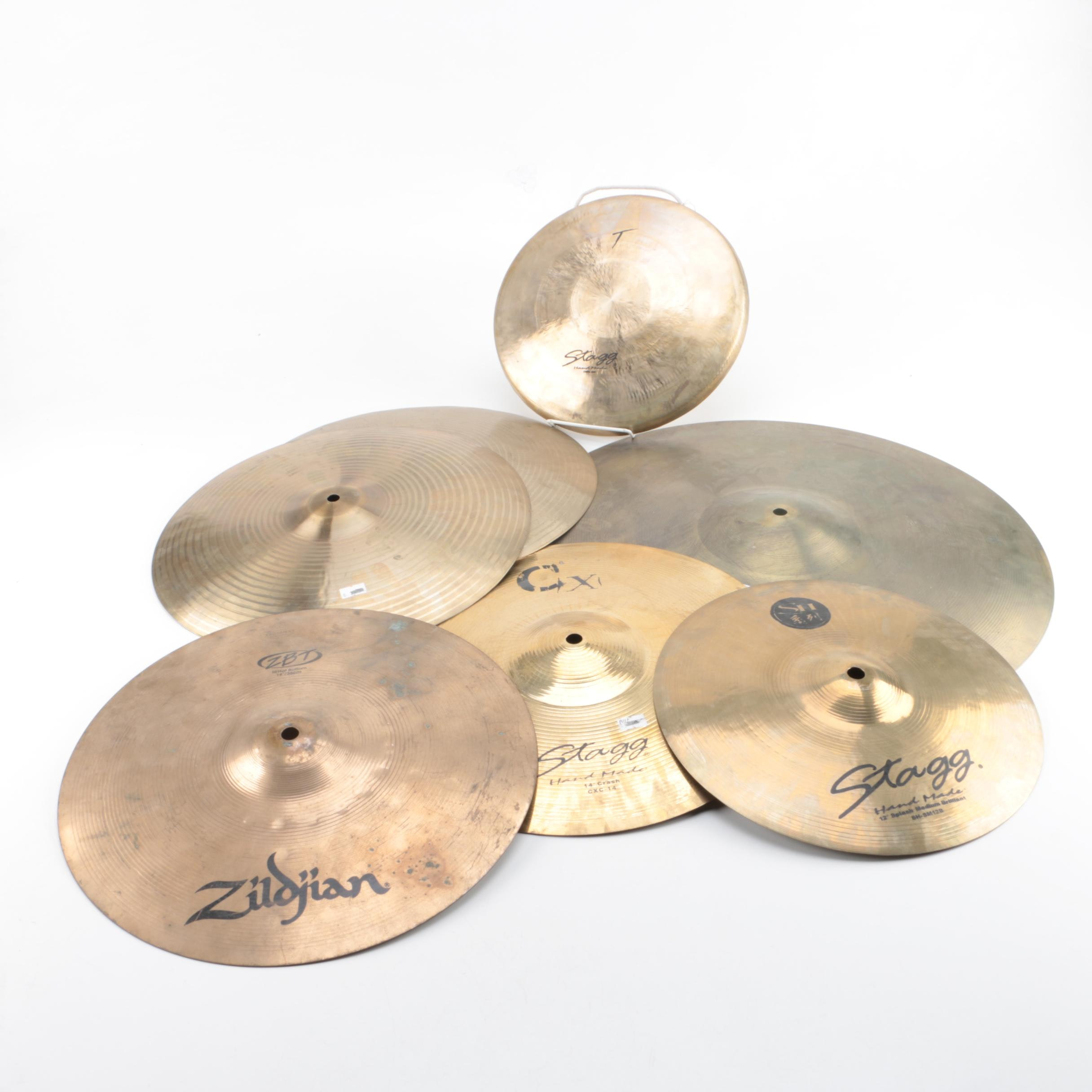Crash and Splash Cymbals Including Stagg and Zildjian