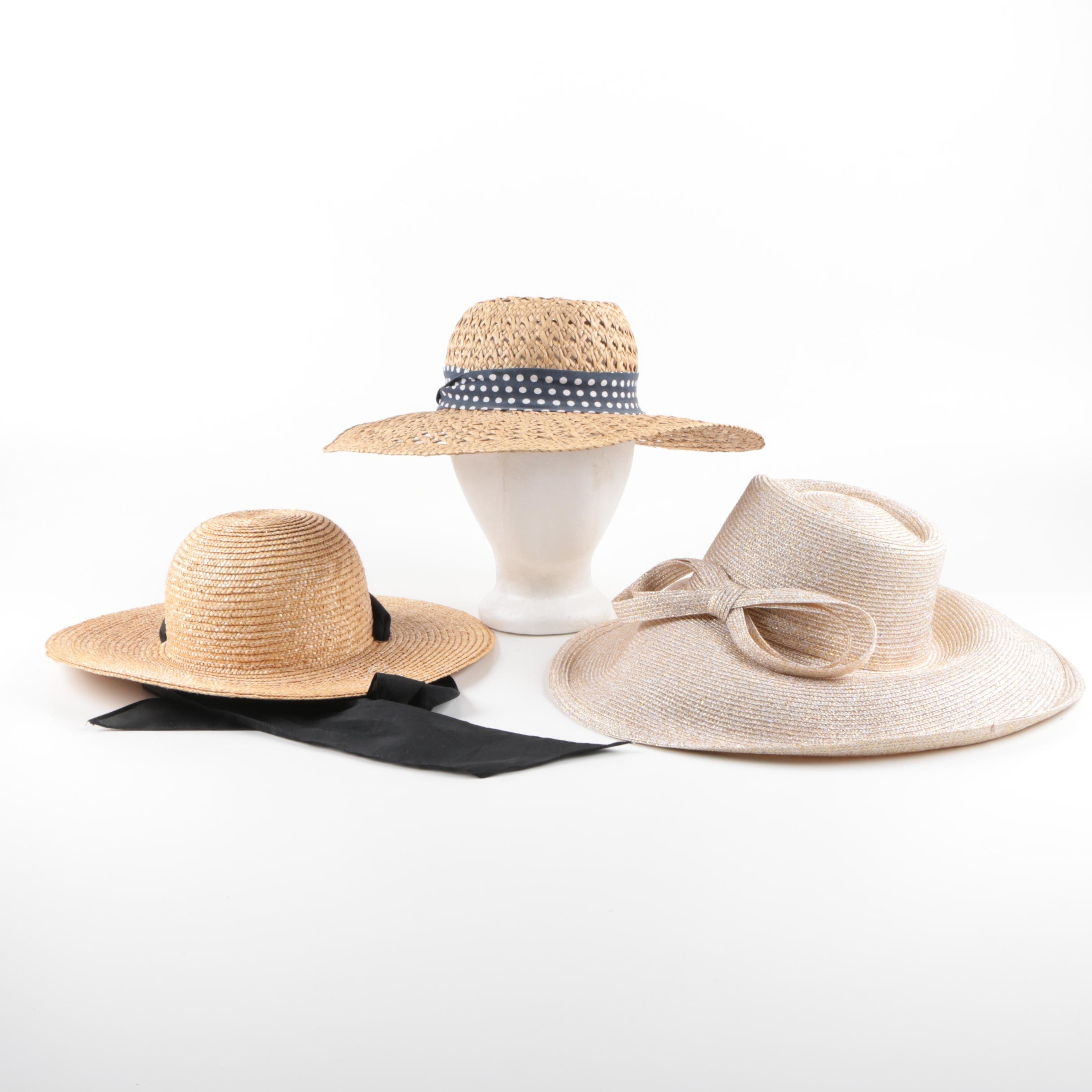 Summer Straw Hats Including Fine Millinery