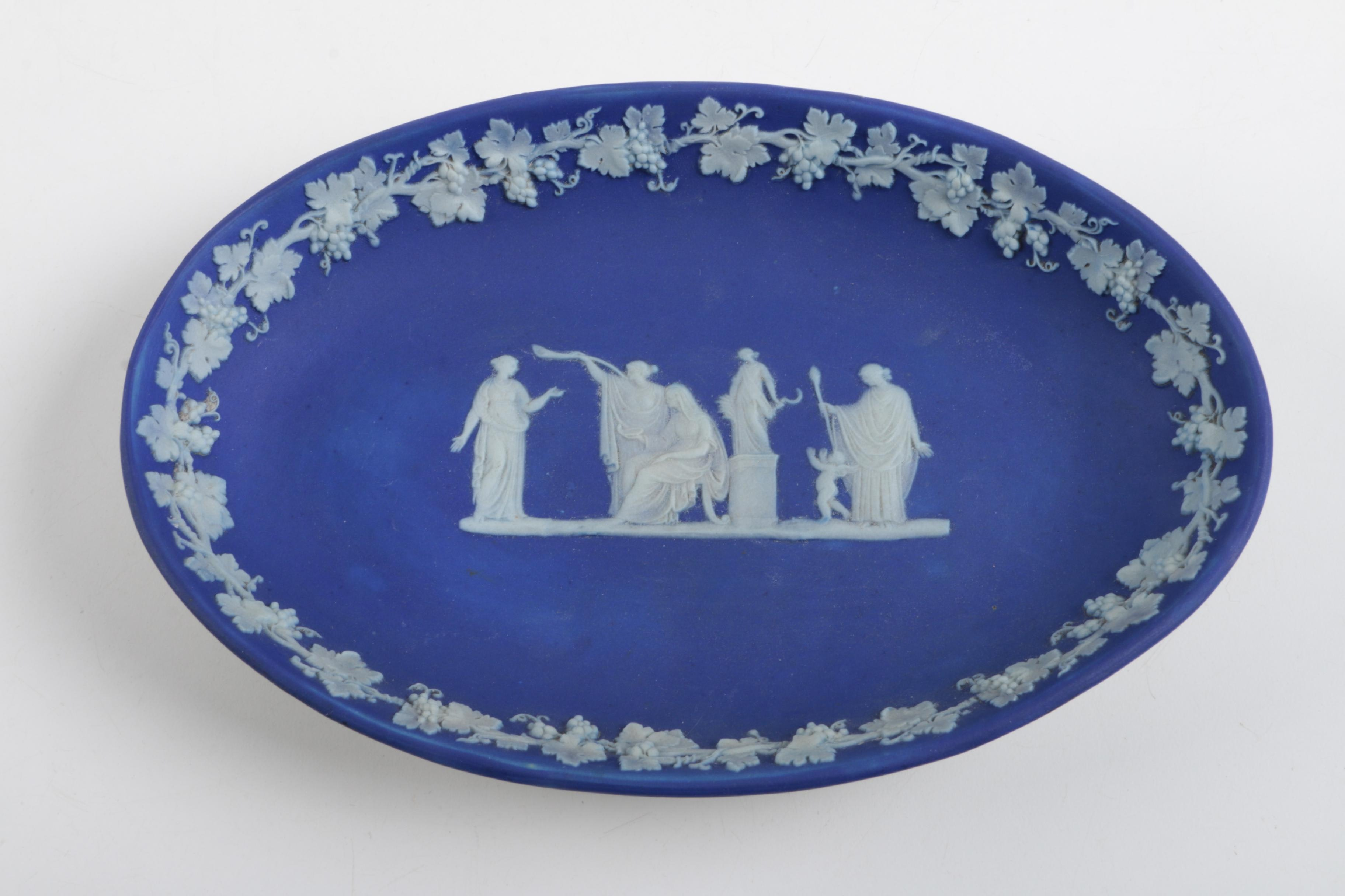 Antique Wedgwood Blue Jasperware