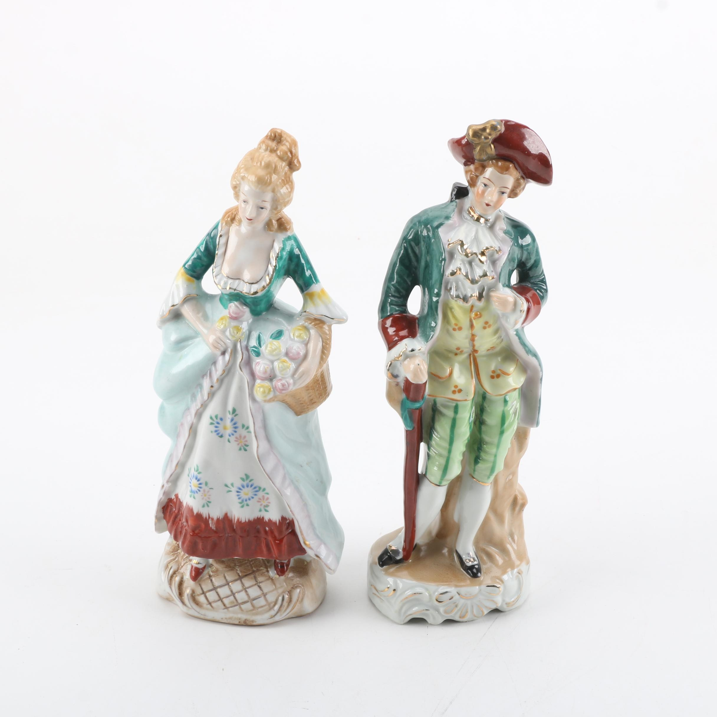 Porcelain Colonial Figurines Made in Japan