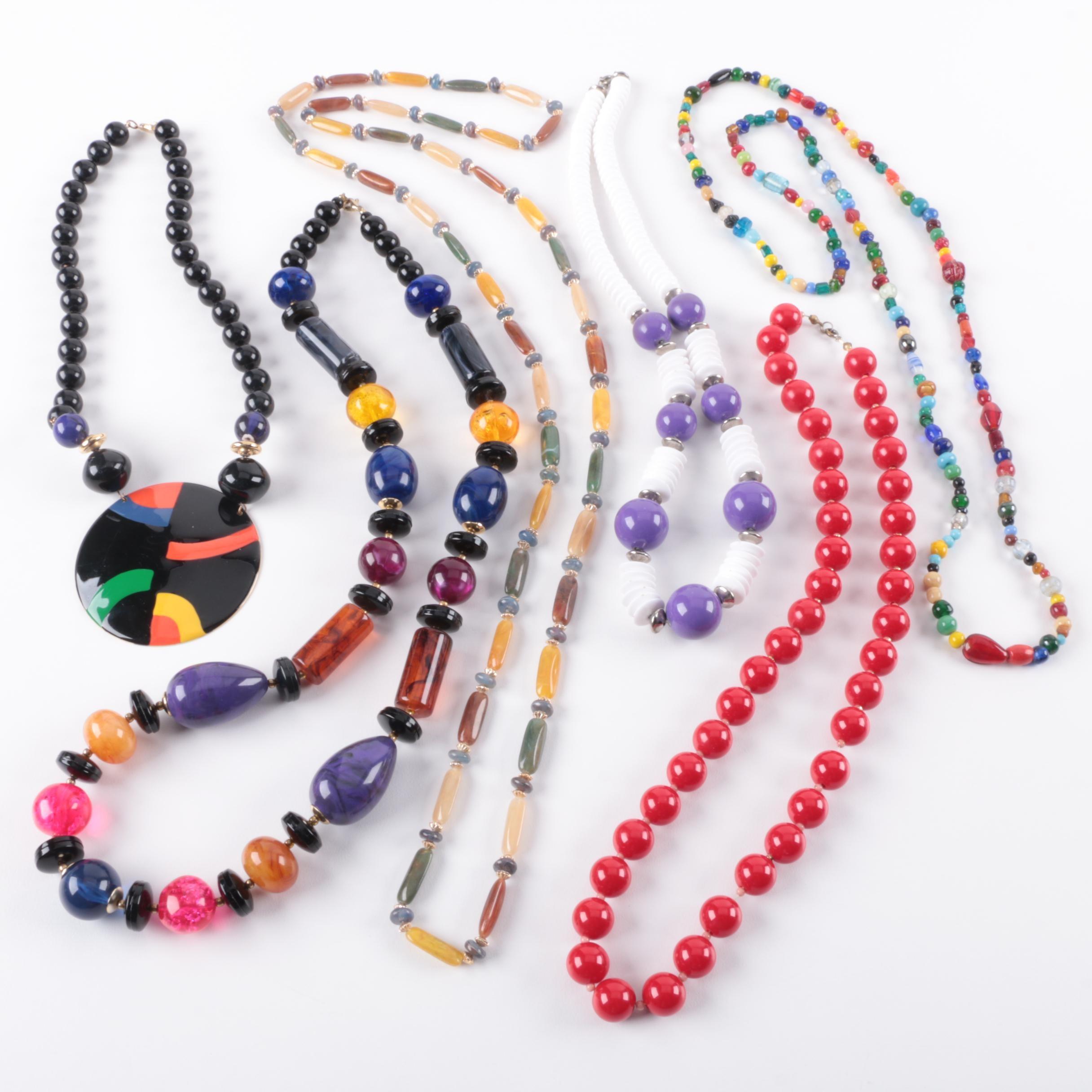 Costume Jewelry Beaded Necklaces