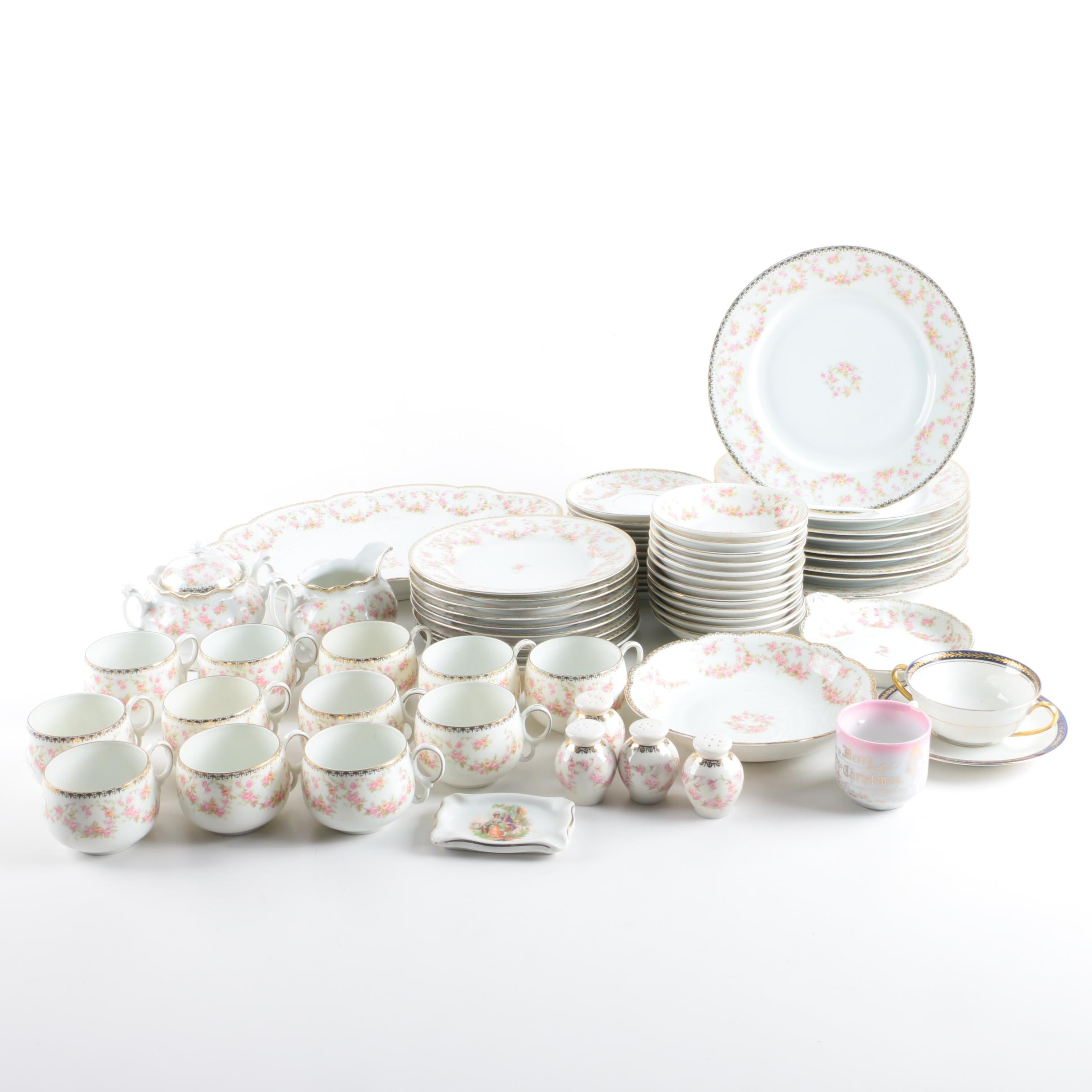 "Altrohlau China ""Bridal Rose"" Porcelain Tableware"
