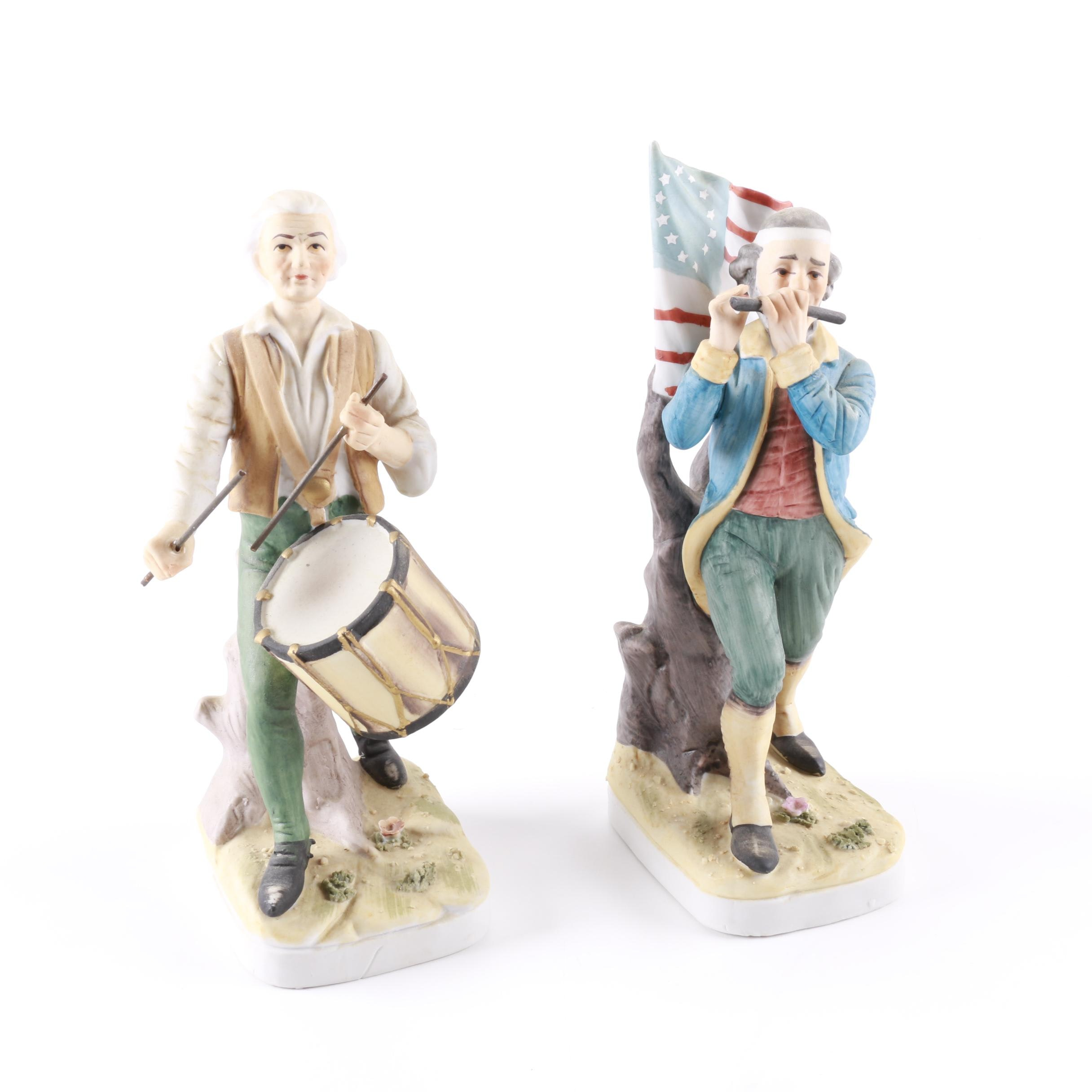 Fifer and Drummer Figurines by Lefton