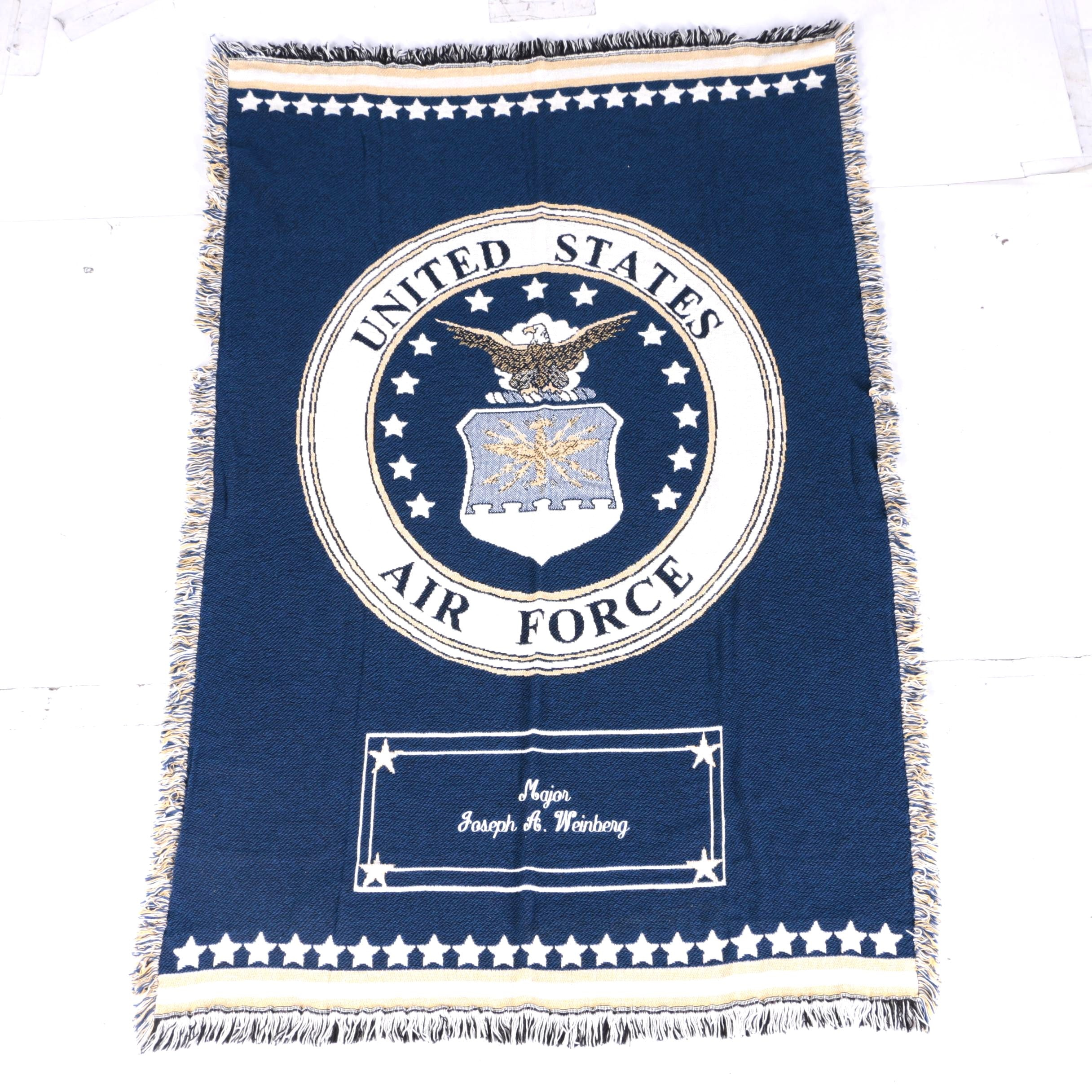 Woven United States Air Force Blanket