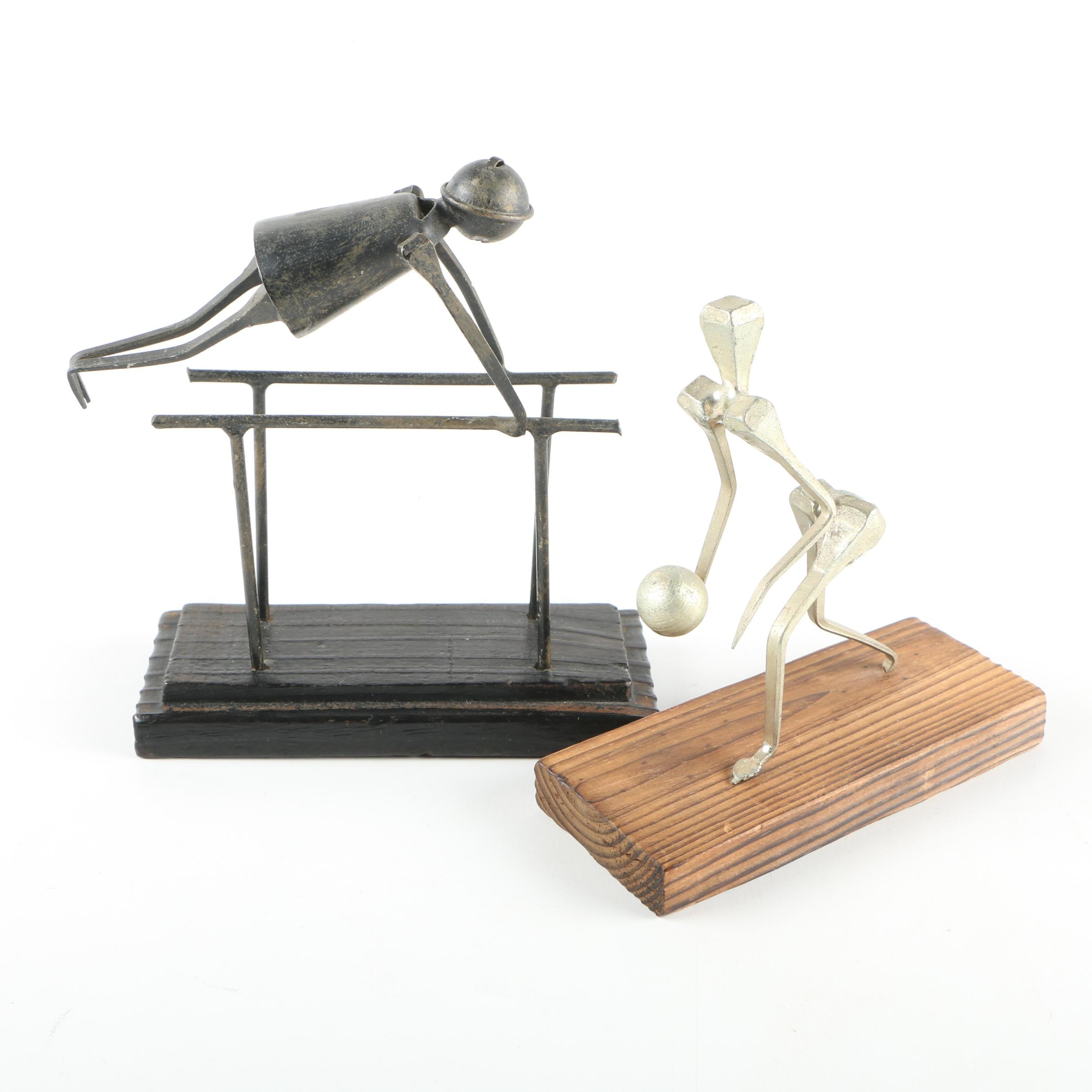 Metal Sports Figurines Made in Spain