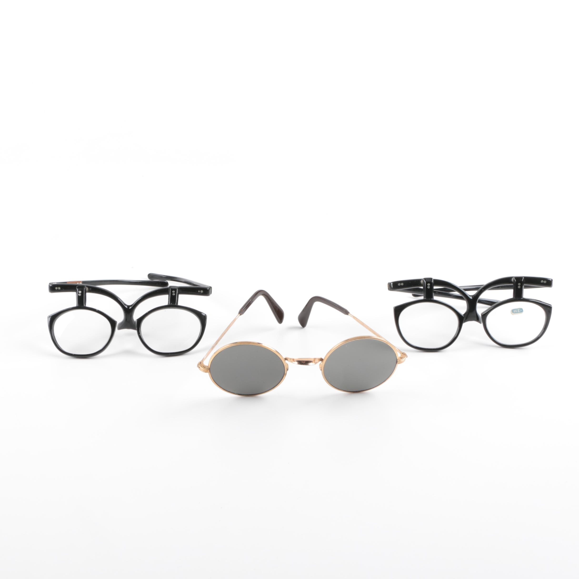 Vintage Sunglasses and Magnifying Task Glasses