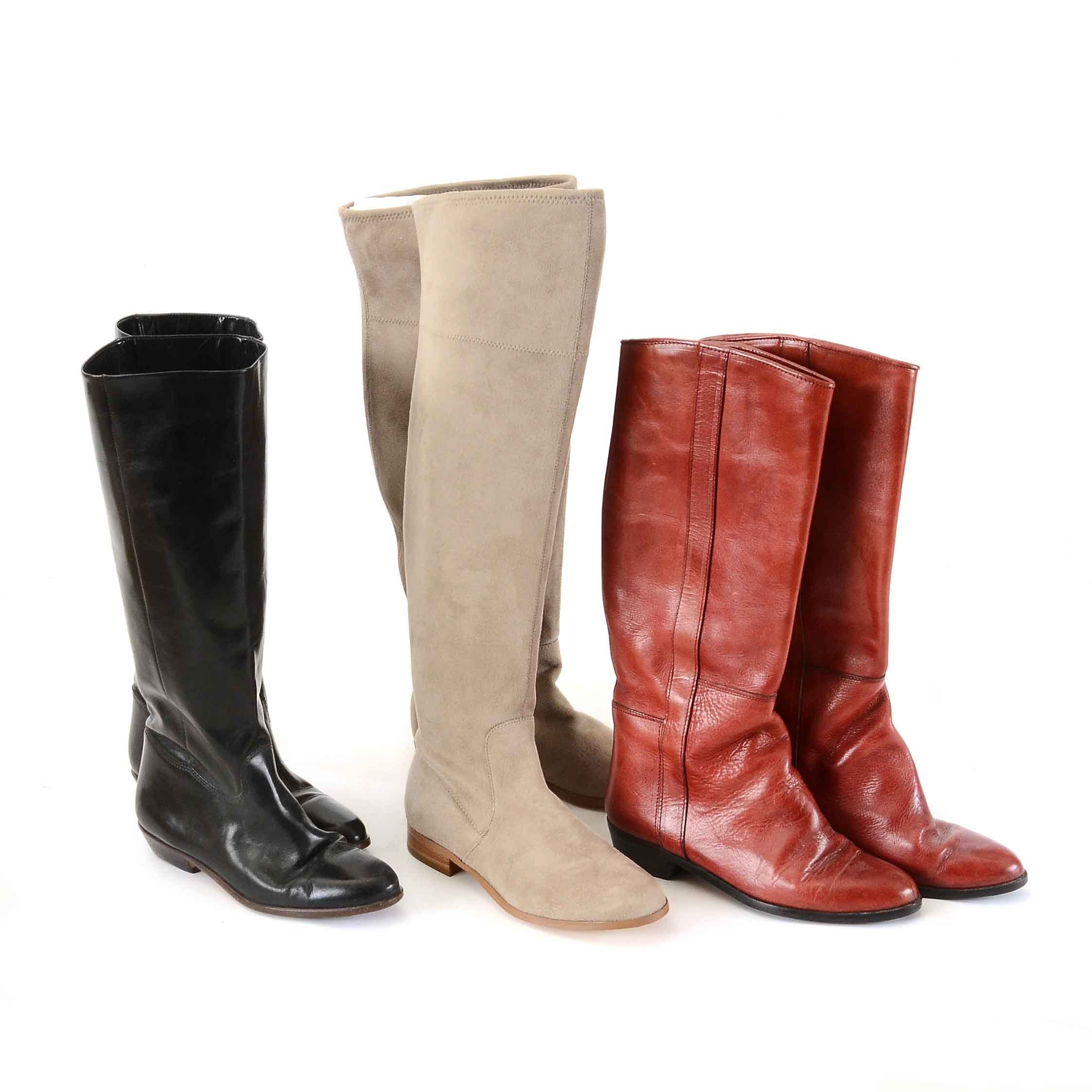 Collection of Women's Leather Boots including Calvin Klein