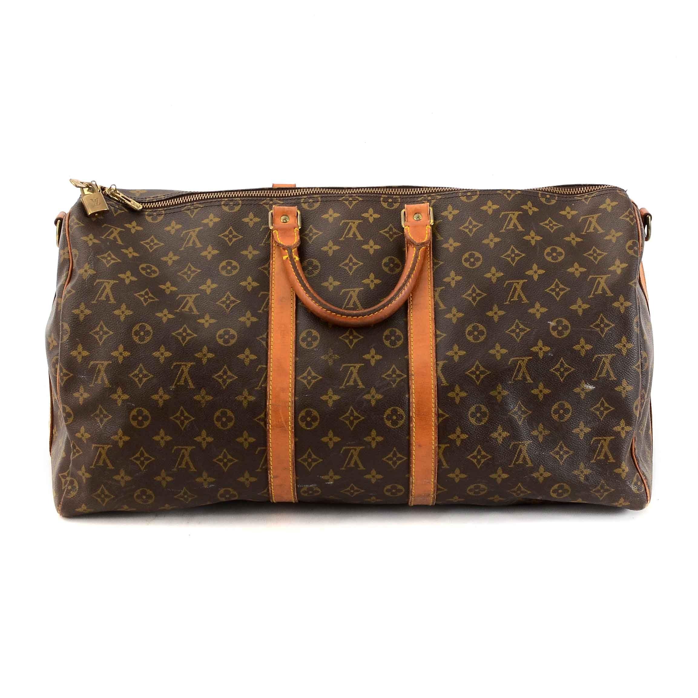 Vintage Louis Vuitton Signature Monogram Canvas Keepall Duffle Bag