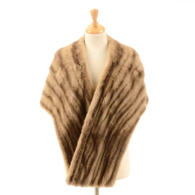 Vintage Desert Gold Mink Fur Stole