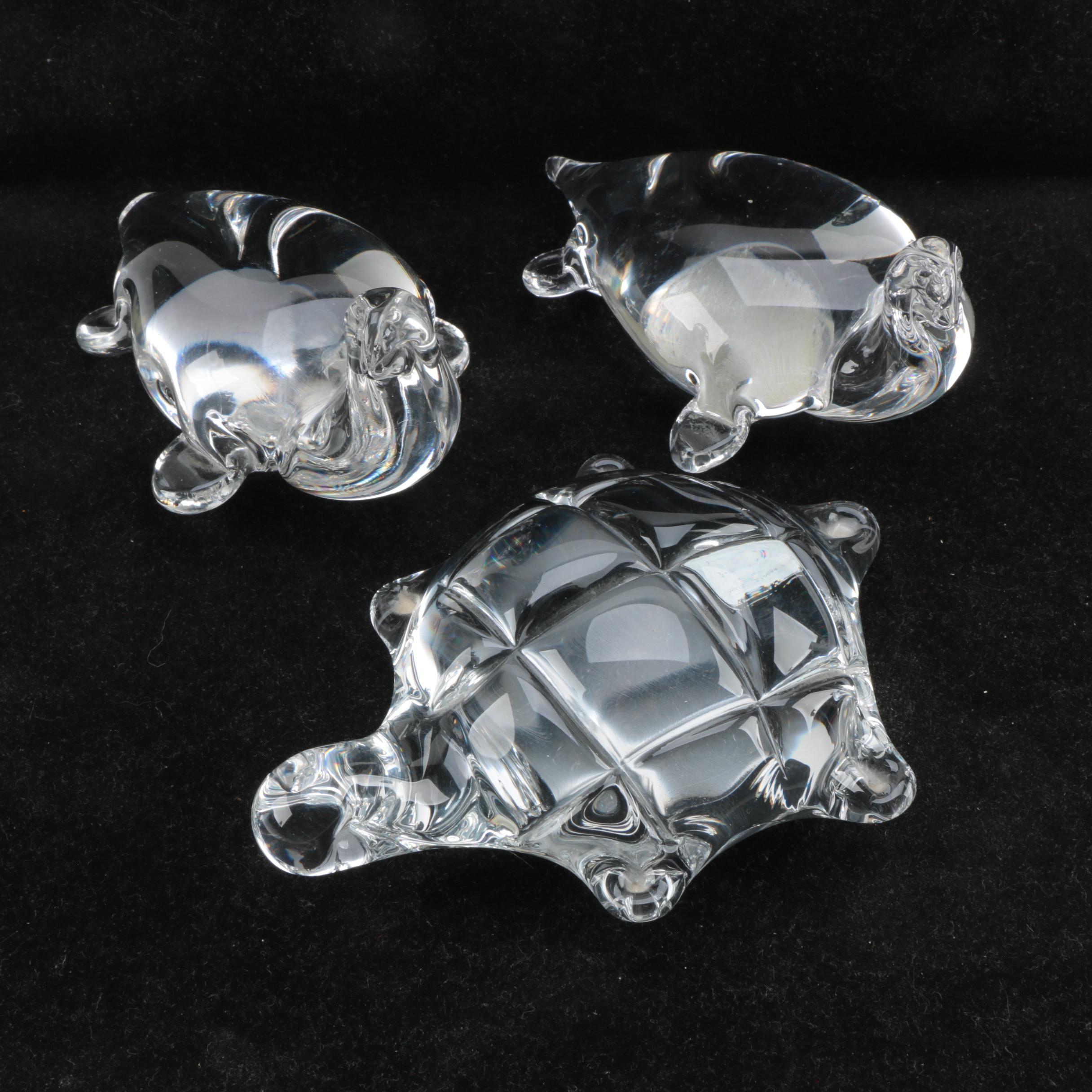 Italian Crystal Animal Figurines Including Vilca Atelier