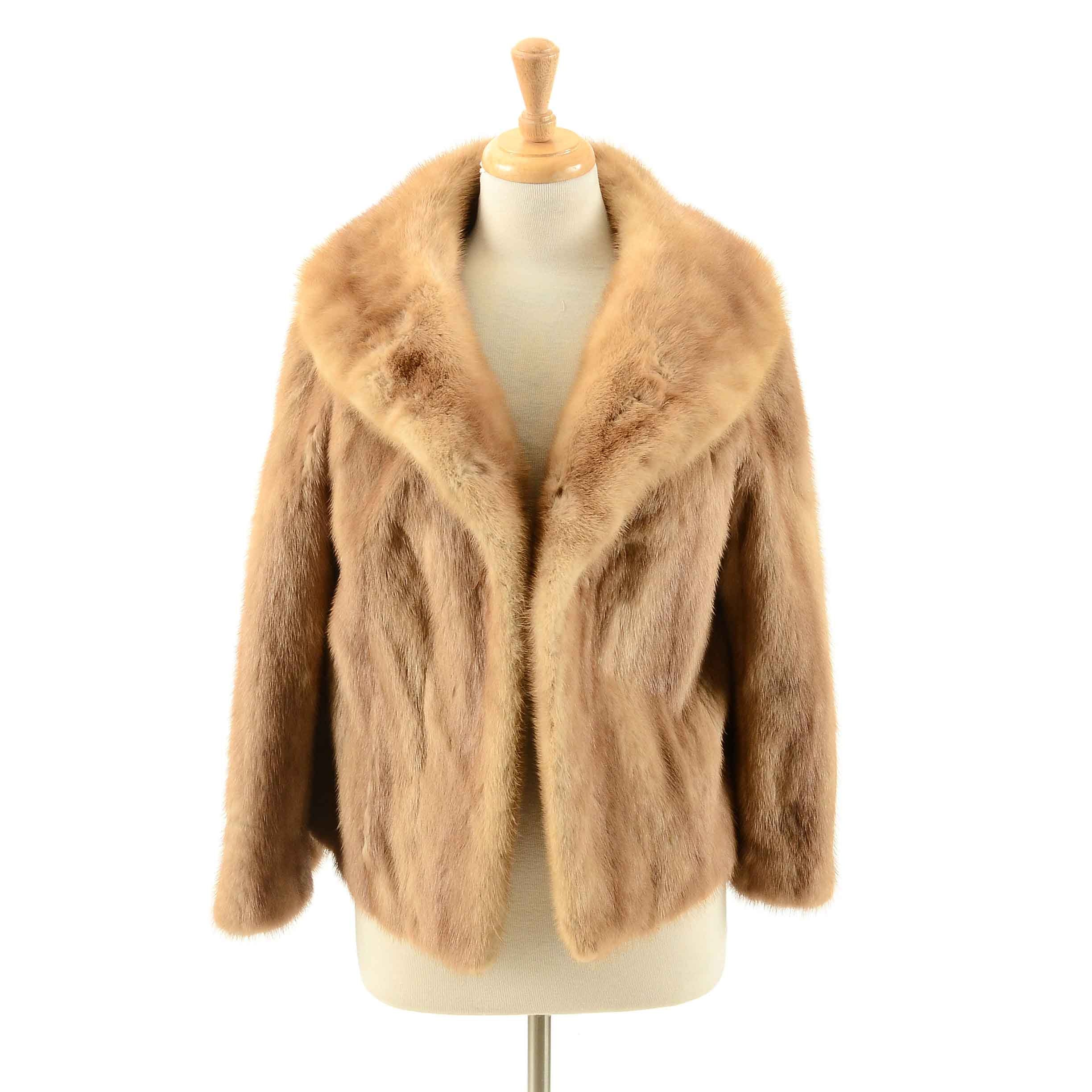 Vintage Autumn Haze Mink Fur Jacket