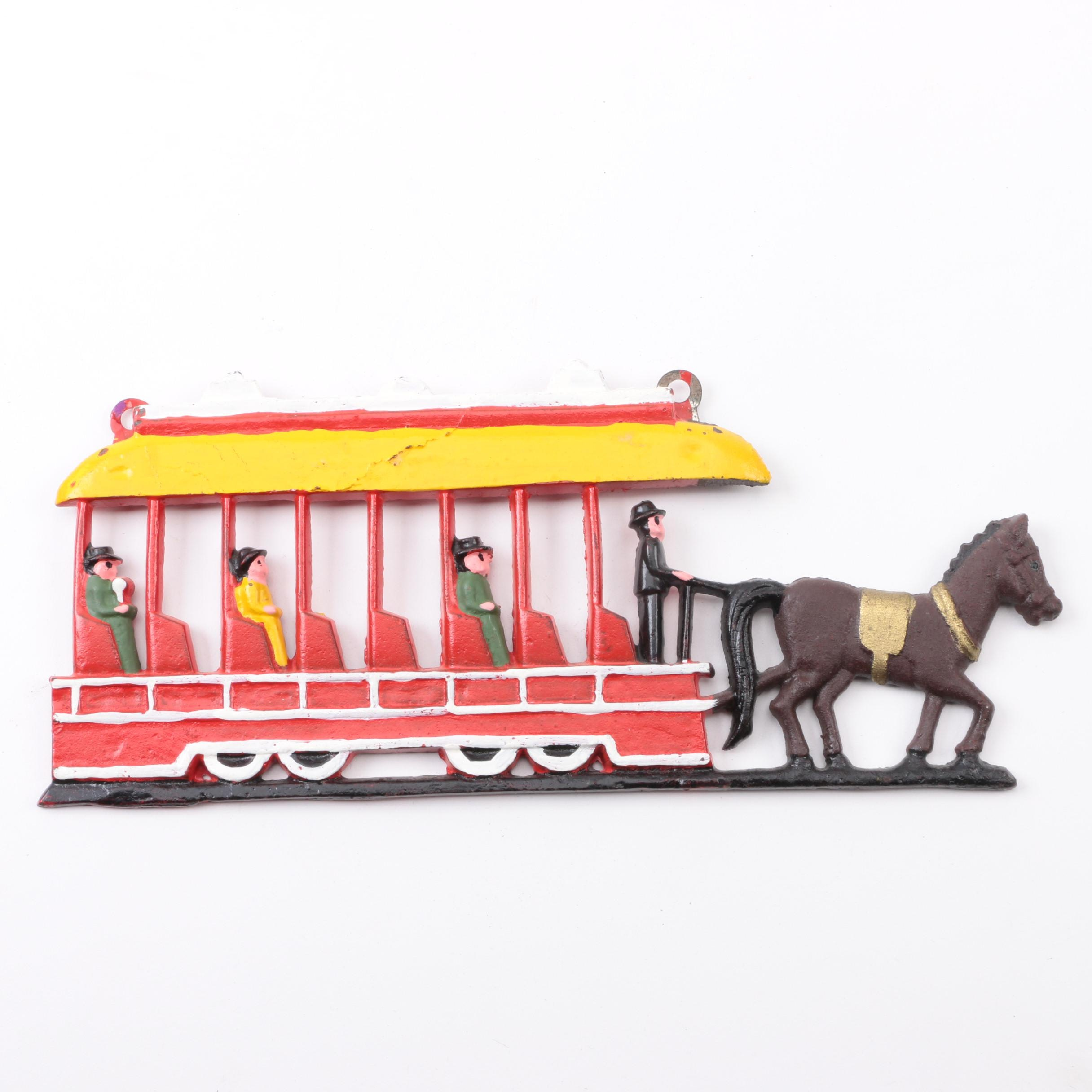 Cast Iron Horse Drawn Trolley