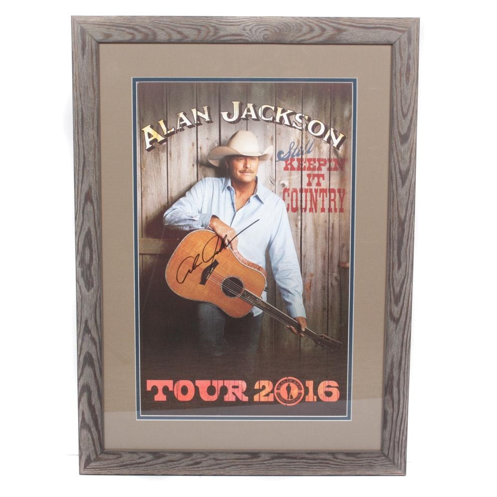 Alan Jackson Autographed Tour Poster