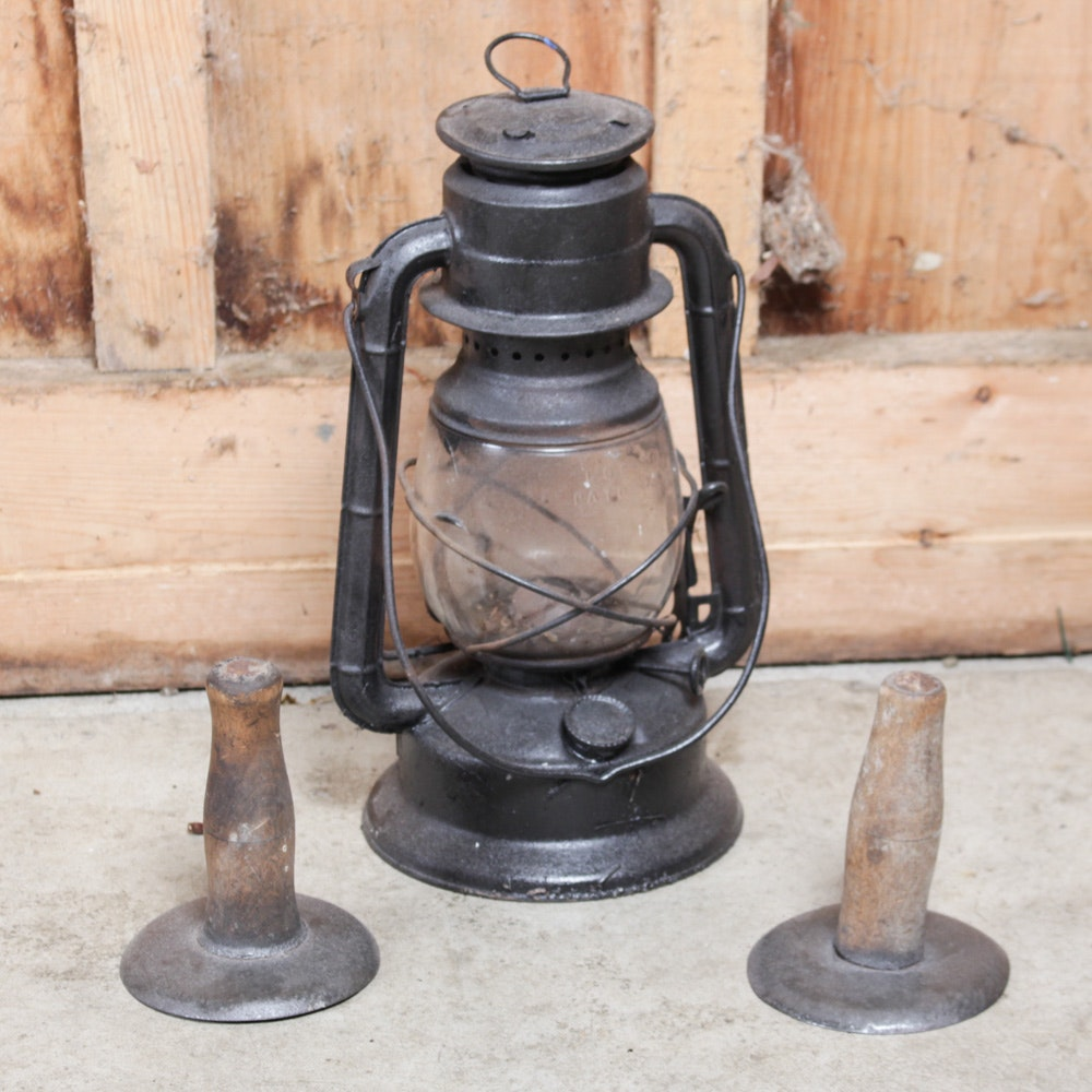 Antique Lantern and Accessories