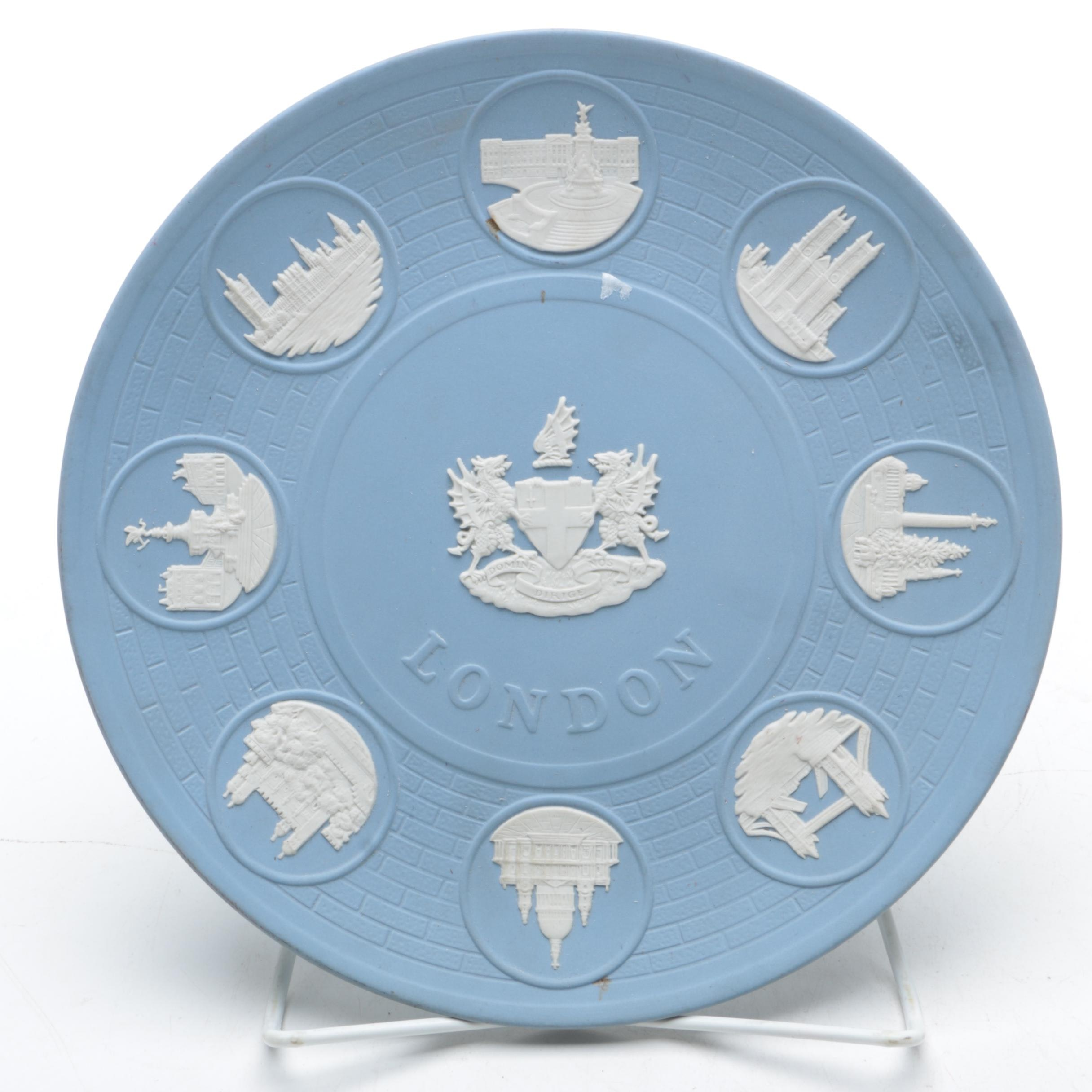 "Wedgwood Blue Jasperware ""London Landmarks"" Plate"