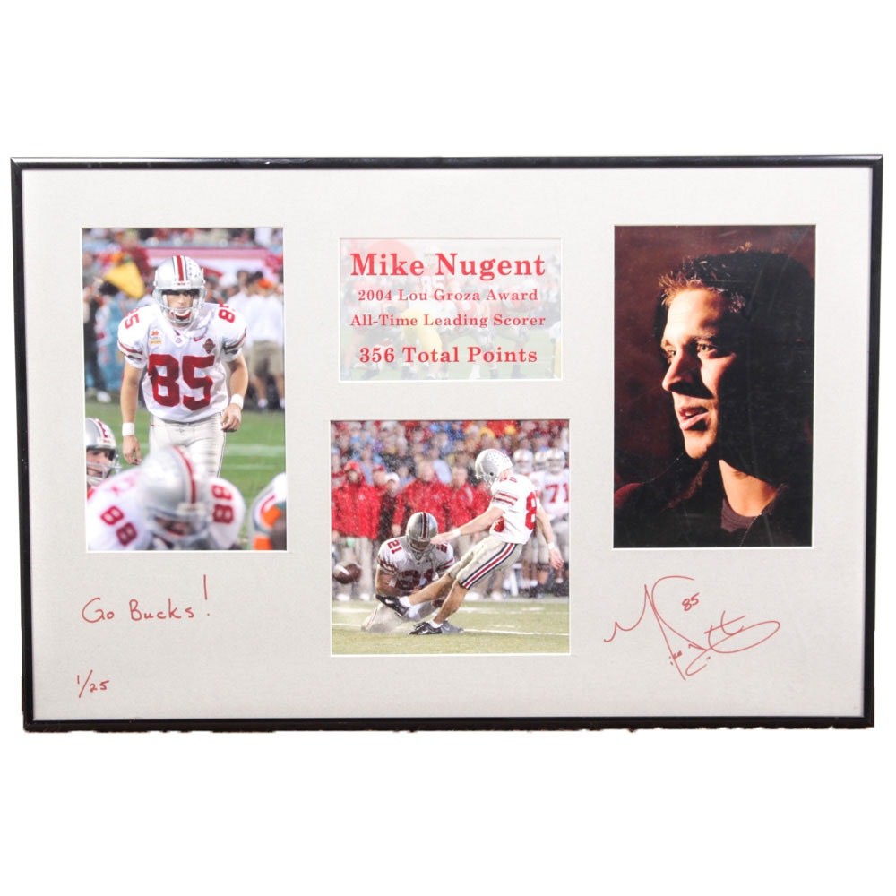 Mike Nugent Limited Edition Autographed Photograph Collage