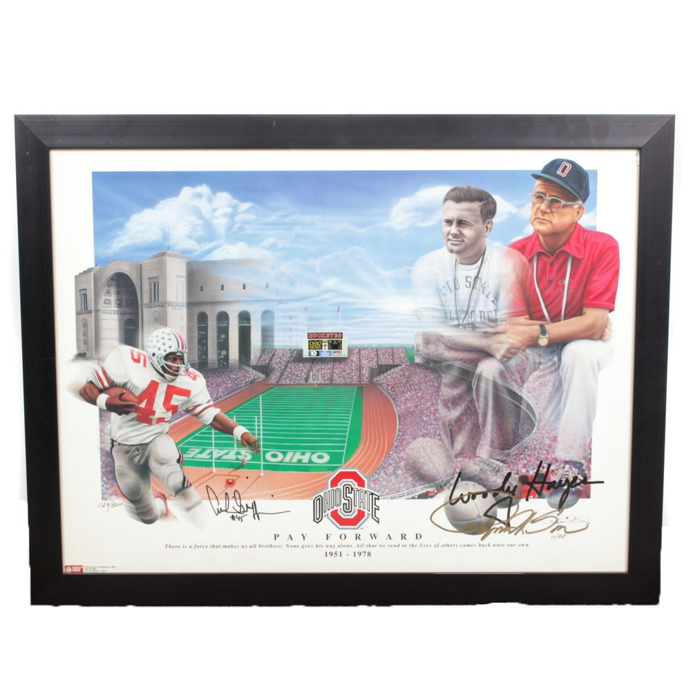 """Archie Griffin Autographed Raymond Simon Offset Lithograph """"Pay Forward"""""""