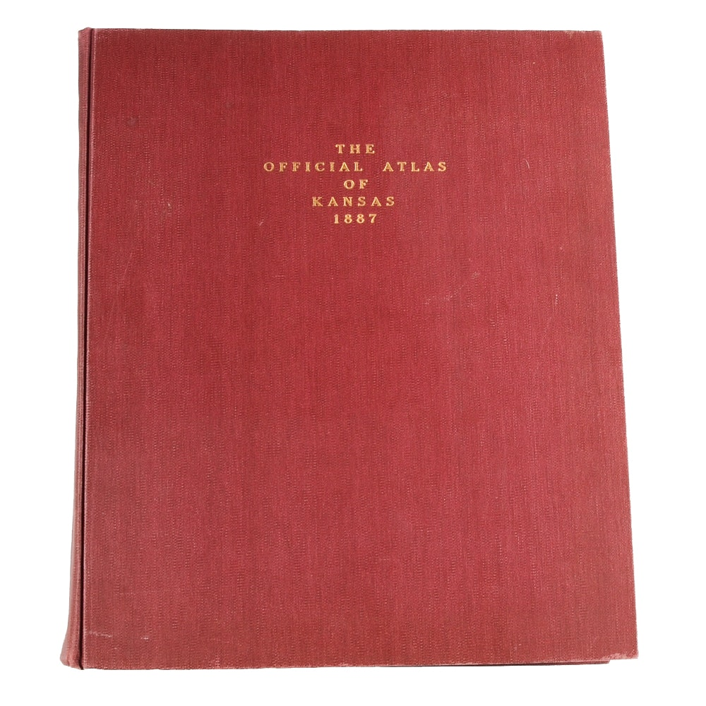 "1887 ""Official Atlas of Kansas"" in Hardcover"