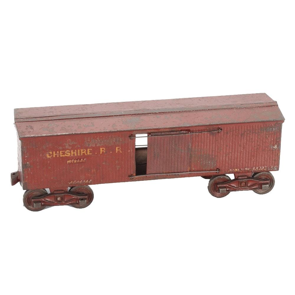 "Antique ""Cheshire Railroad"" Cast Iron Car"