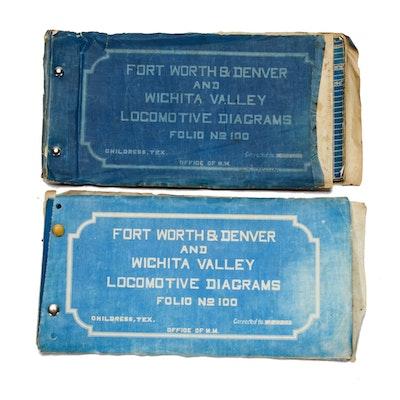 Ft. Worth & Denver and Wichita Valley Locomotive Diagrams