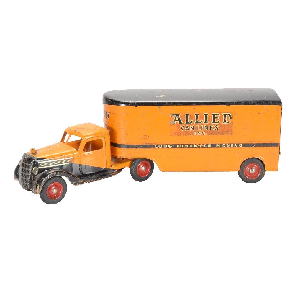 """Vintage Buddy L """"Allied Van Lines"""" Pressed Steel Truck"""