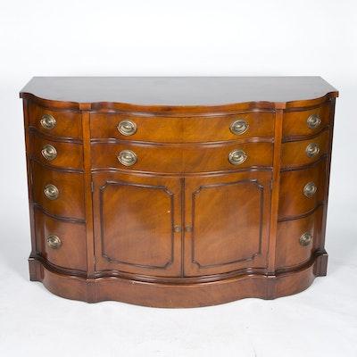 Serpentine Front Sideboard by Drexel - Vintage Dining Furniture Auction Antique Dining Furniture For Sale
