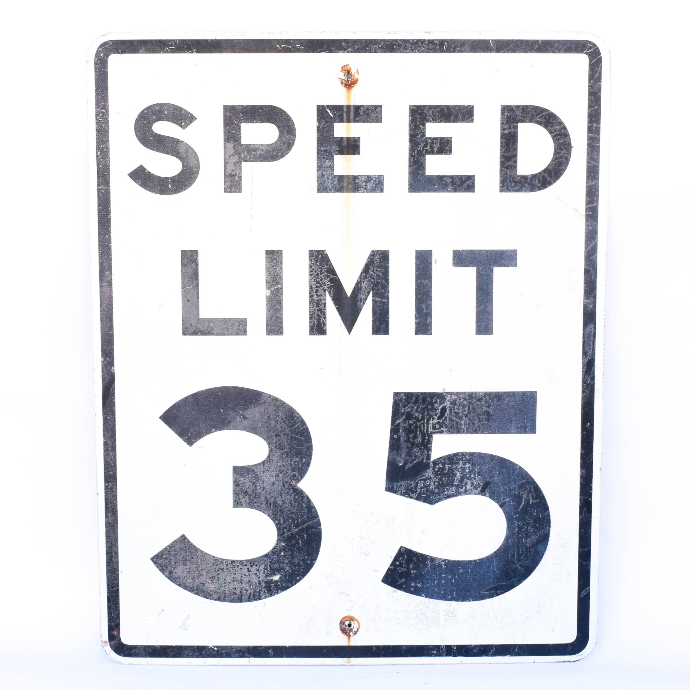 Vintage Speed Limit Sign