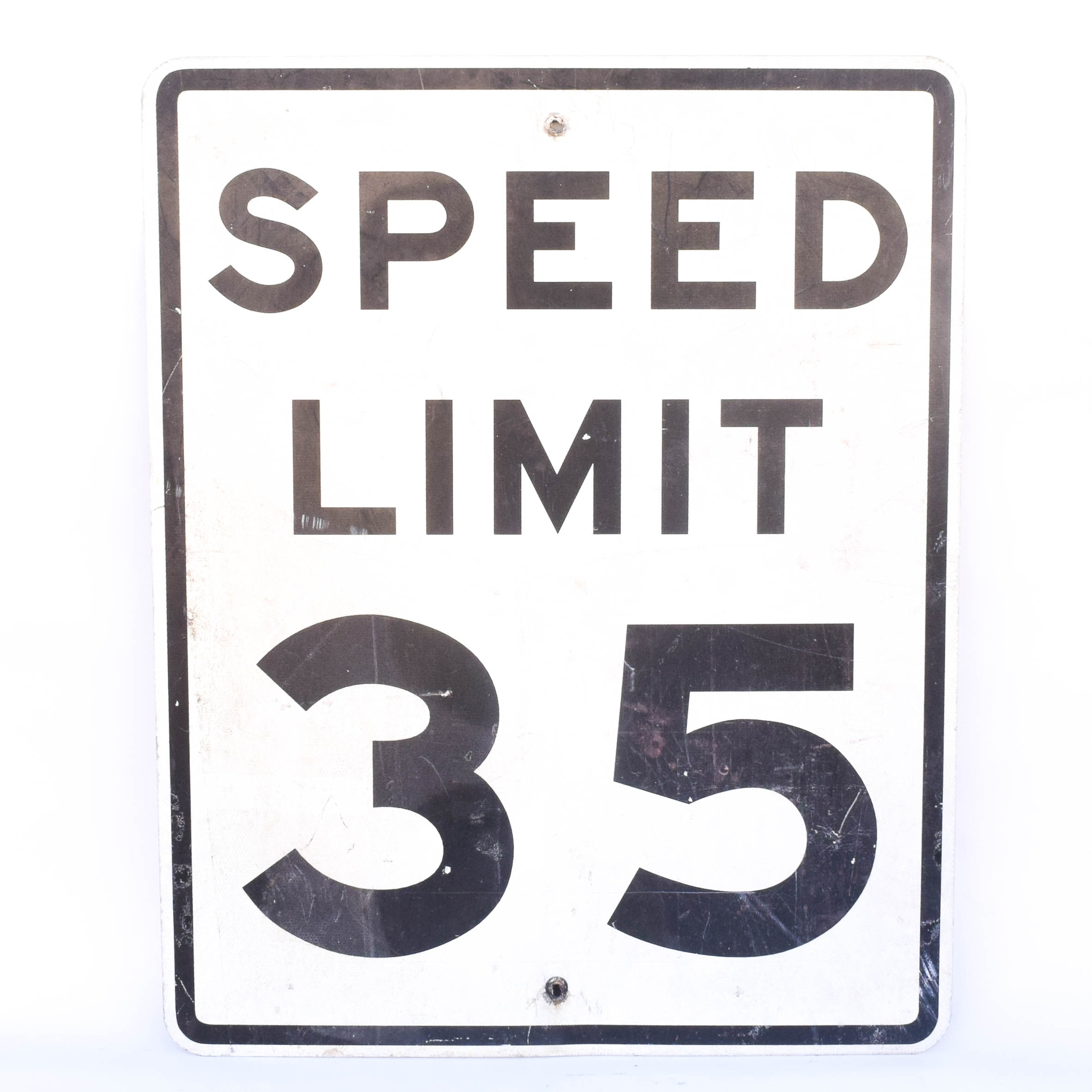 Vintage Speed Limit Sign