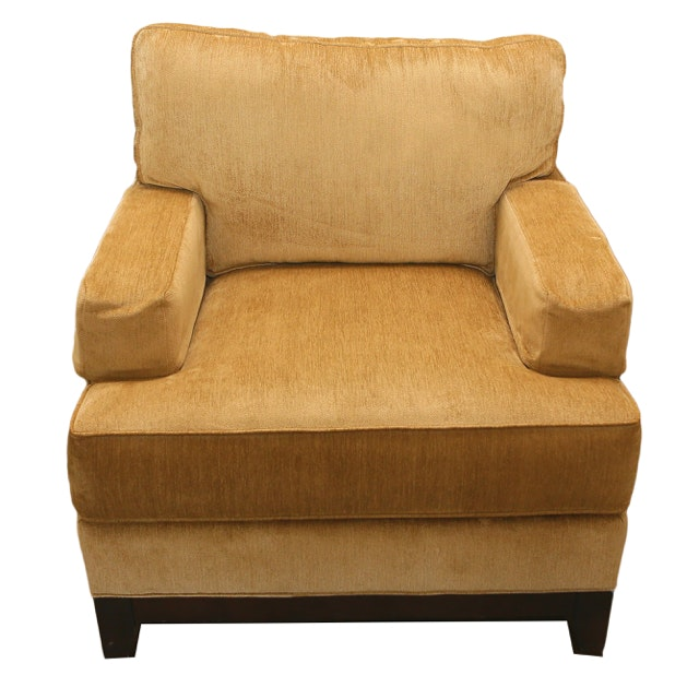Golden Upholstered Armchair by Ethan Allen
