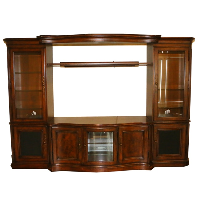 Traditional Wall Unit with Bridged Cornice by Thomasville