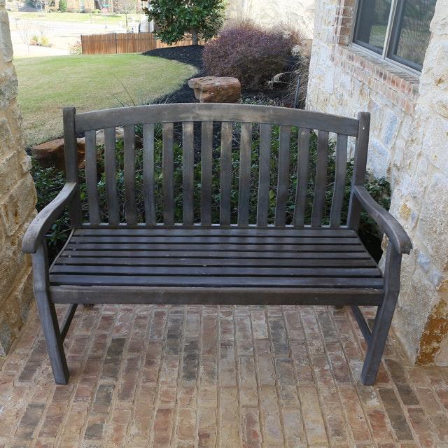 Slat Back Outdoor Bench