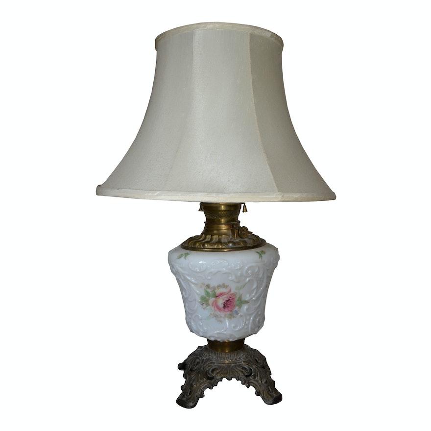 Vintage pressed milk glass table lamp ebth vintage pressed milk glass table lamp mozeypictures Choice Image