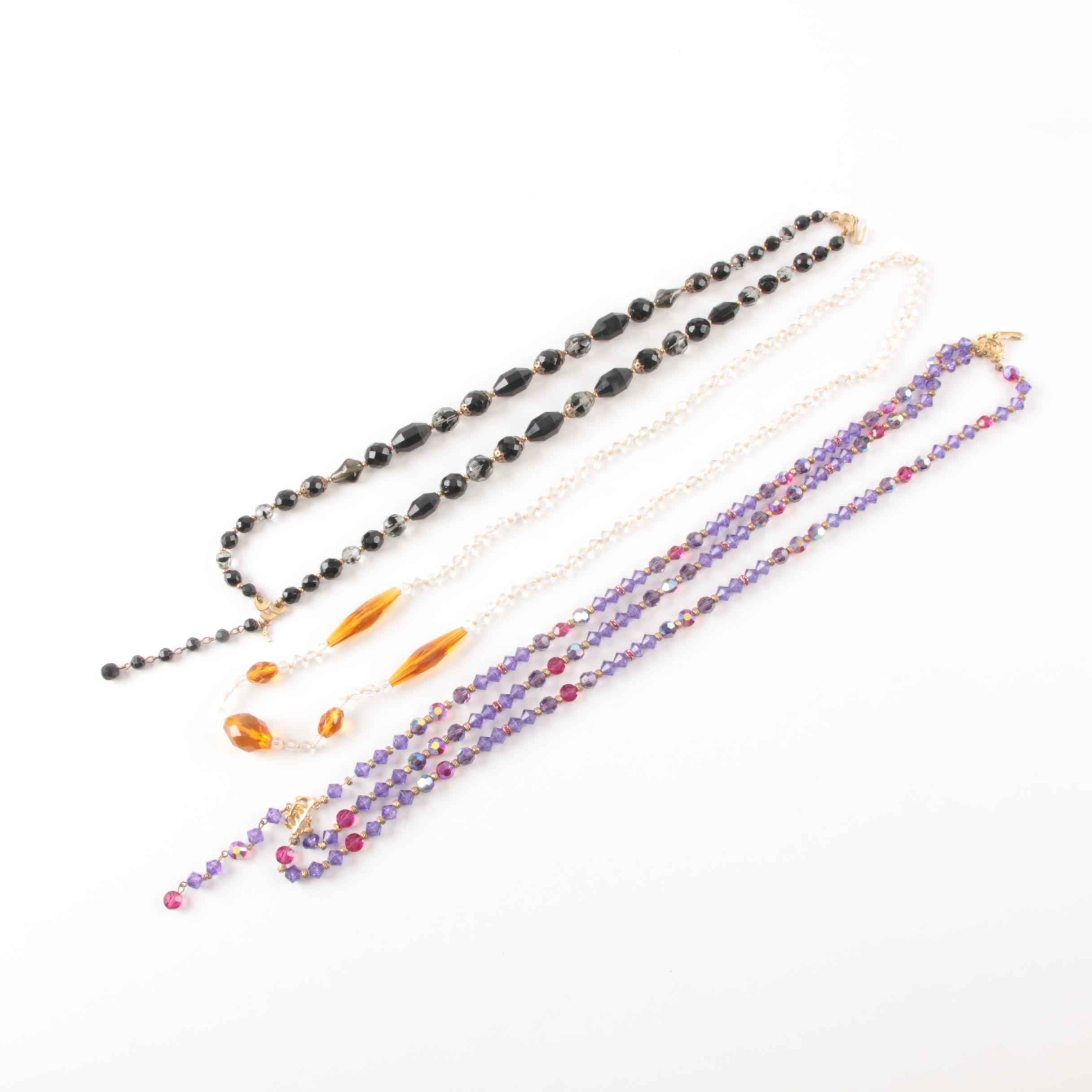 Trio of Beaded Necklaces Including Trifari