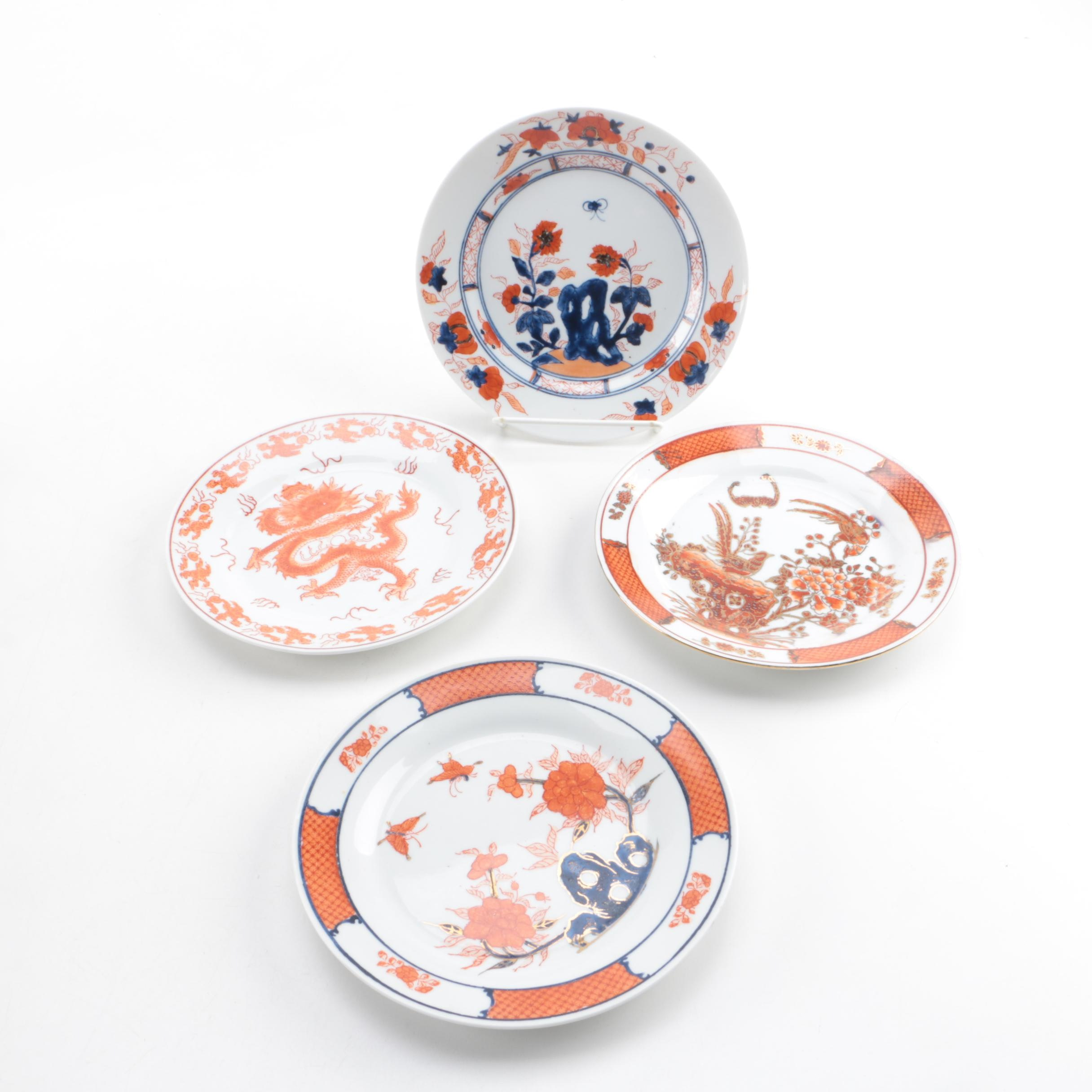 Vintage Hand-painted Chinese Porcelain Plates
